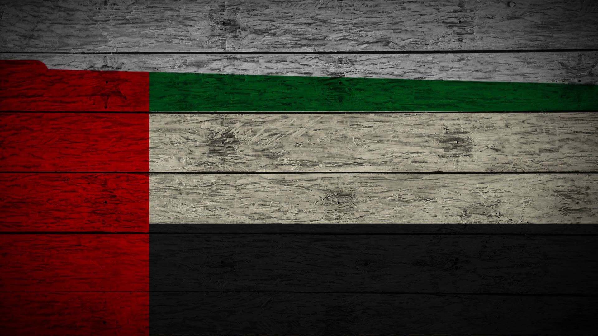 Painting Flag of UAE on old wood boards With four different ways ...