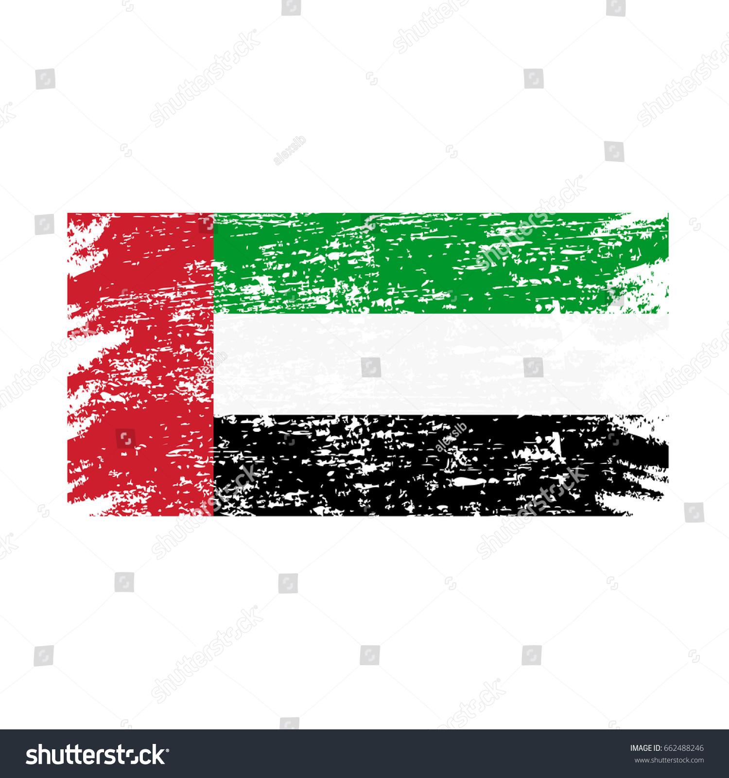 Grunge United Arab Emirates Uae National Stock Vector 662488246 ...