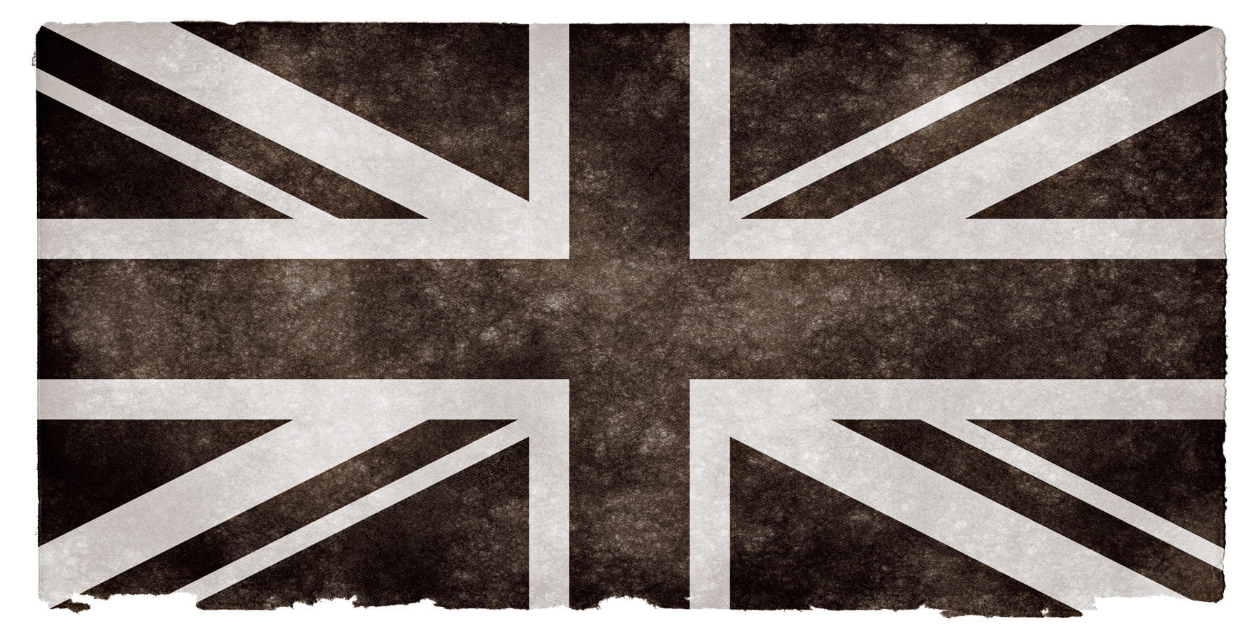 UK Grunge Flag - Black and White, Monotone, Parchment, Paper, Page, HQ Photo