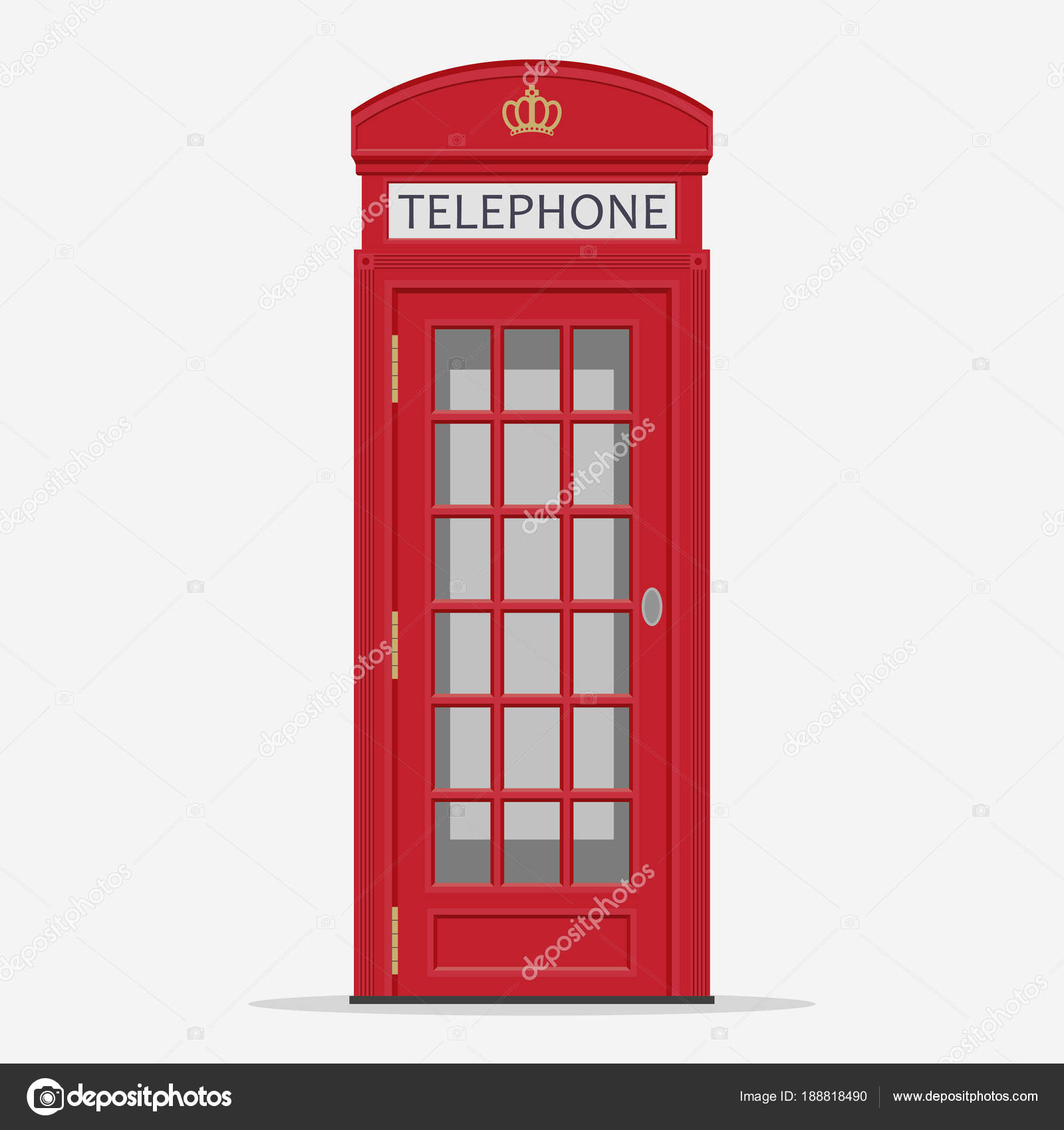 Red London Street Phone Booth vector — Stock Vector © ambassador80 ...