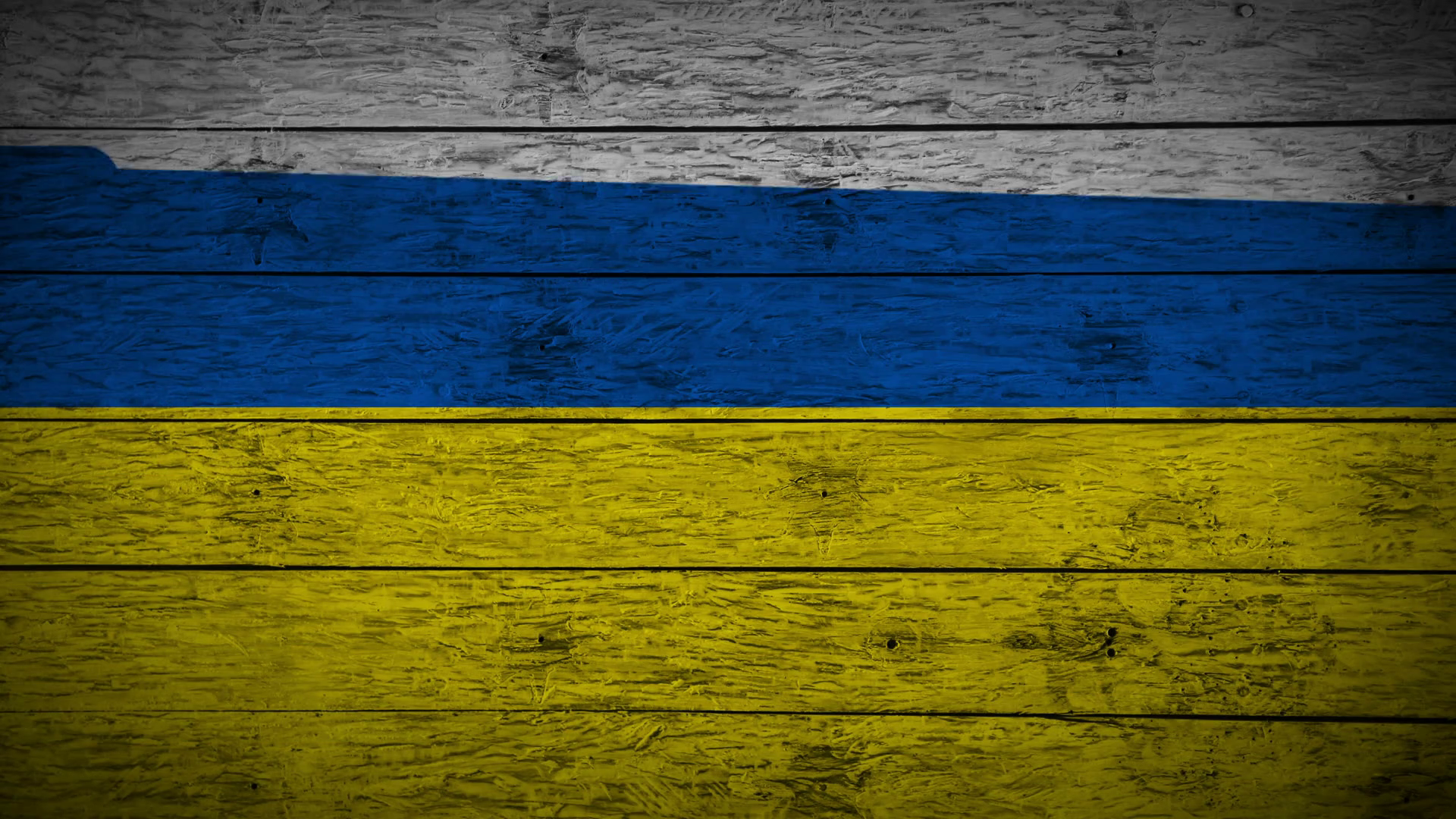 Painting Flag of Ukraine on old wood boards With four different ways ...