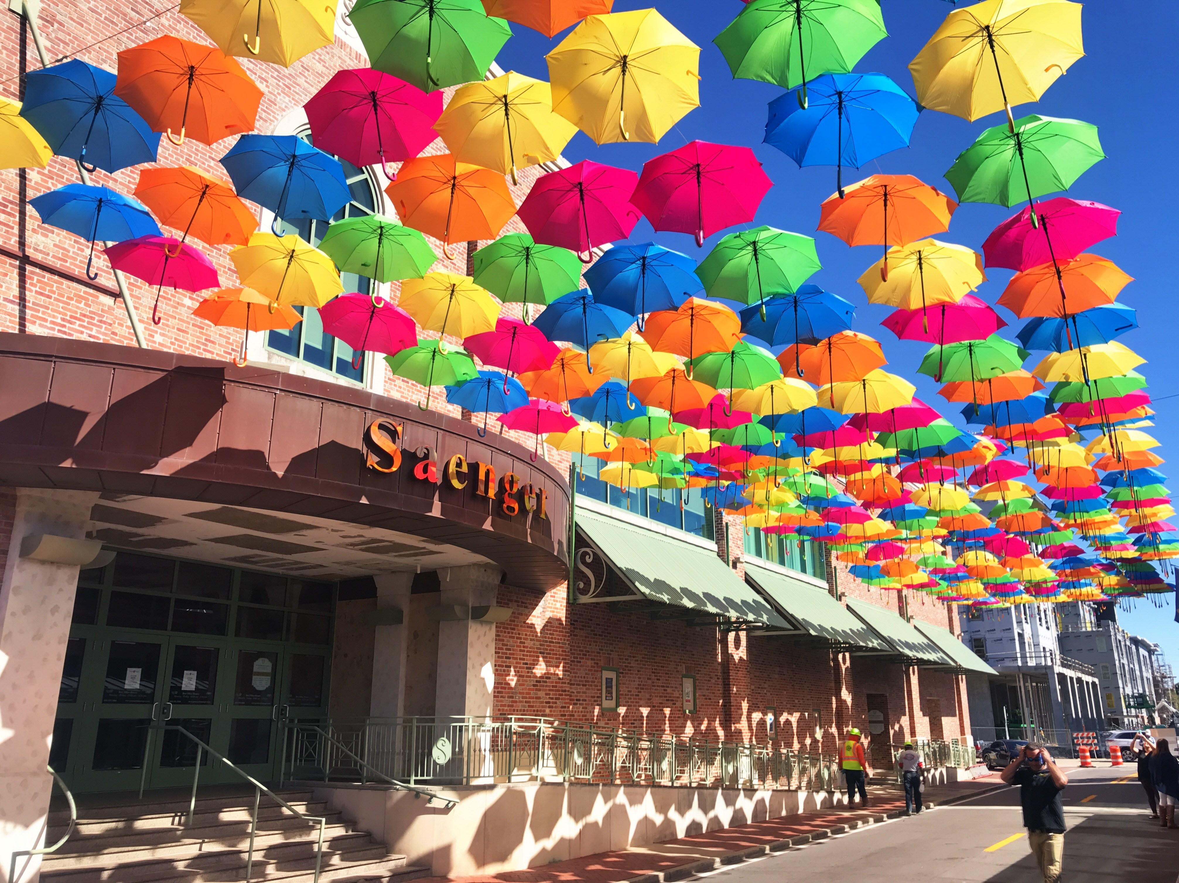 Umbrella against sky photo