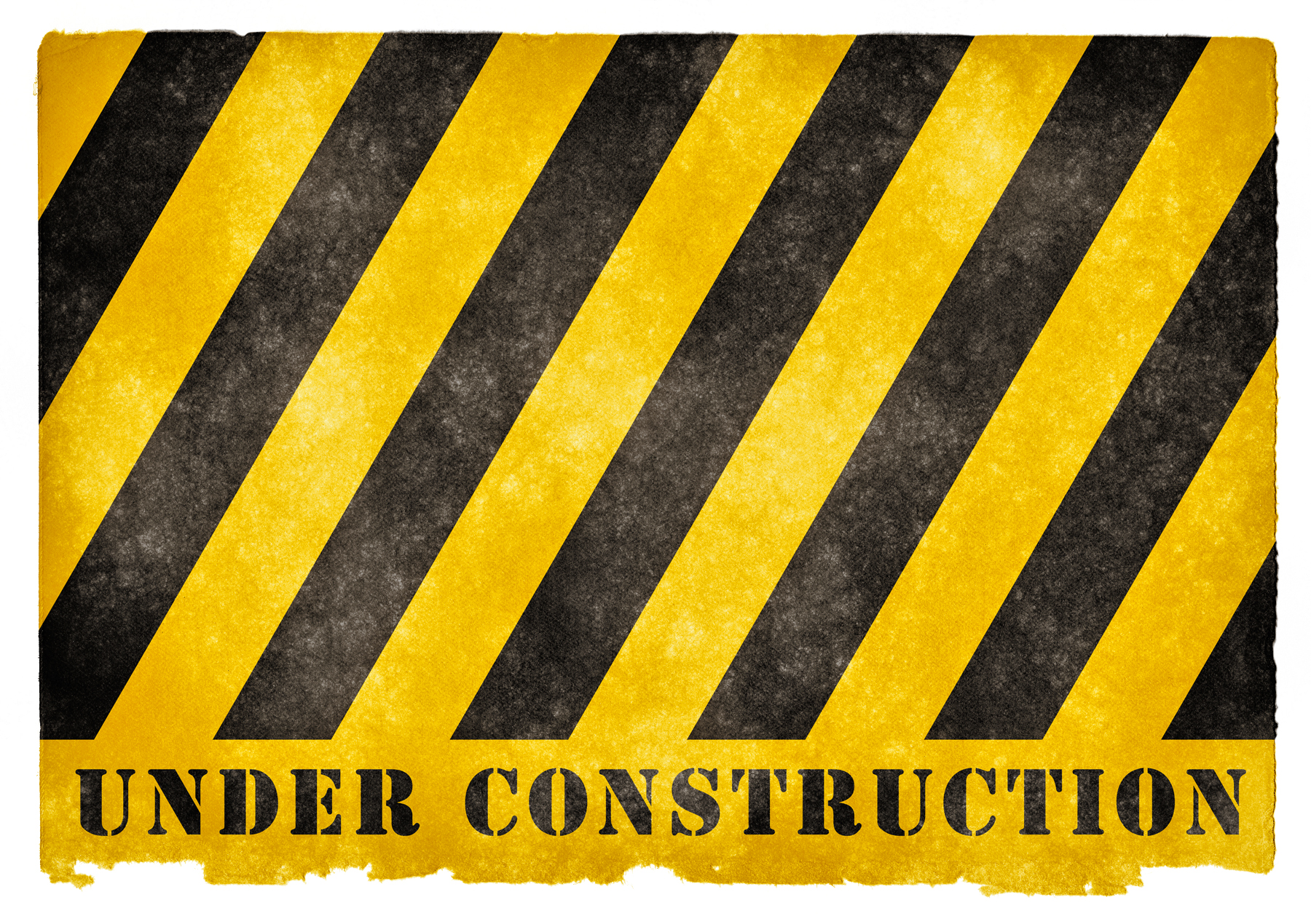 Under construction grunge sign photo