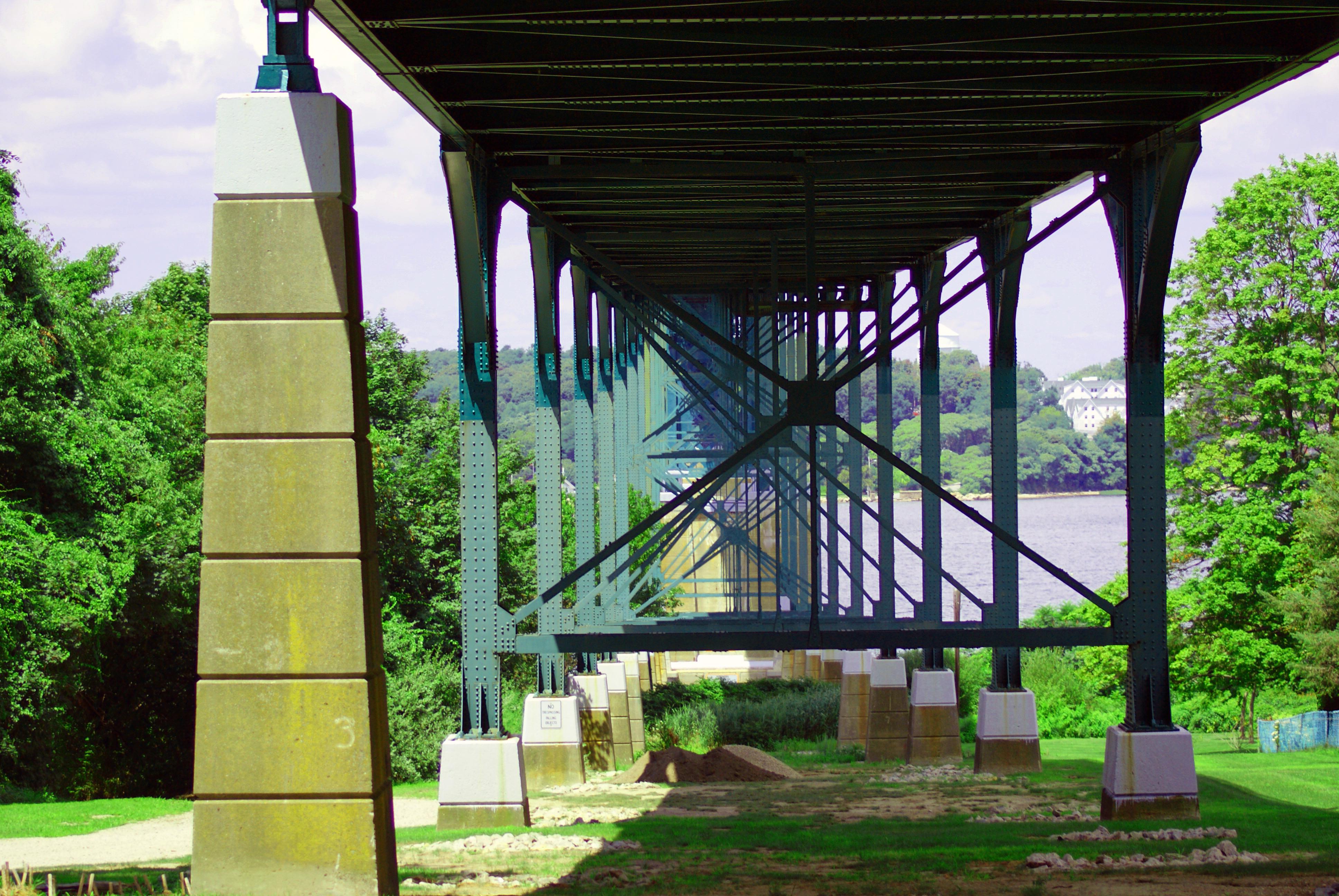 Under The Bridge, Architecture, Suspension, River, Road, HQ Photo