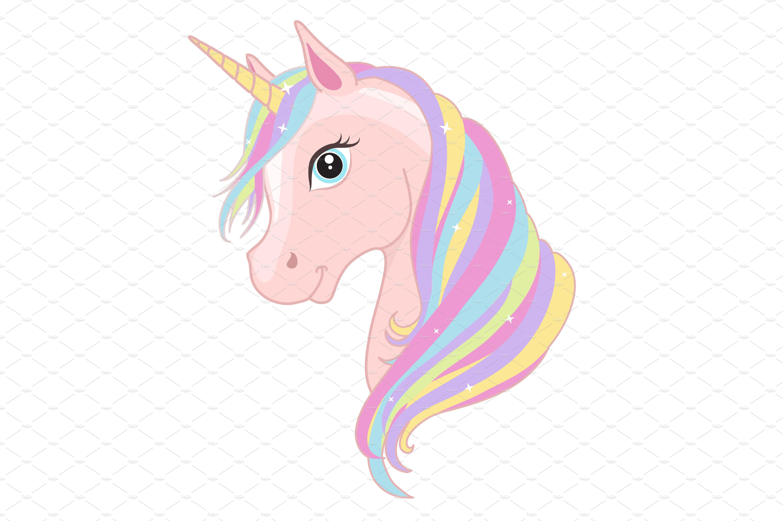 Unicorn head. Magic sweet horse. ~ Graphics ~ Creative Market