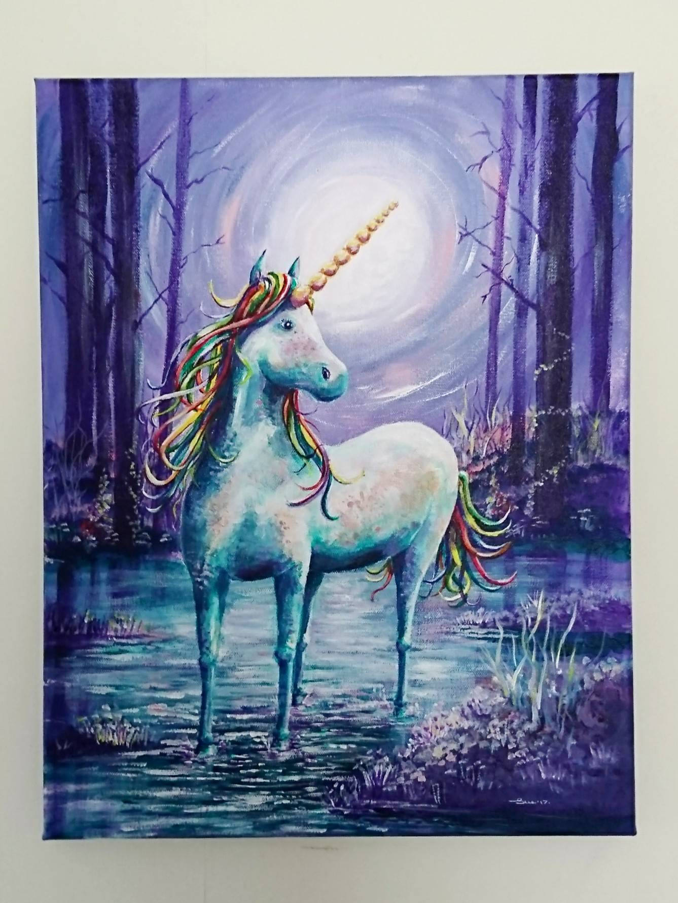 Unicorn painting Acrylic painting Rainbow Unicorn Colourful