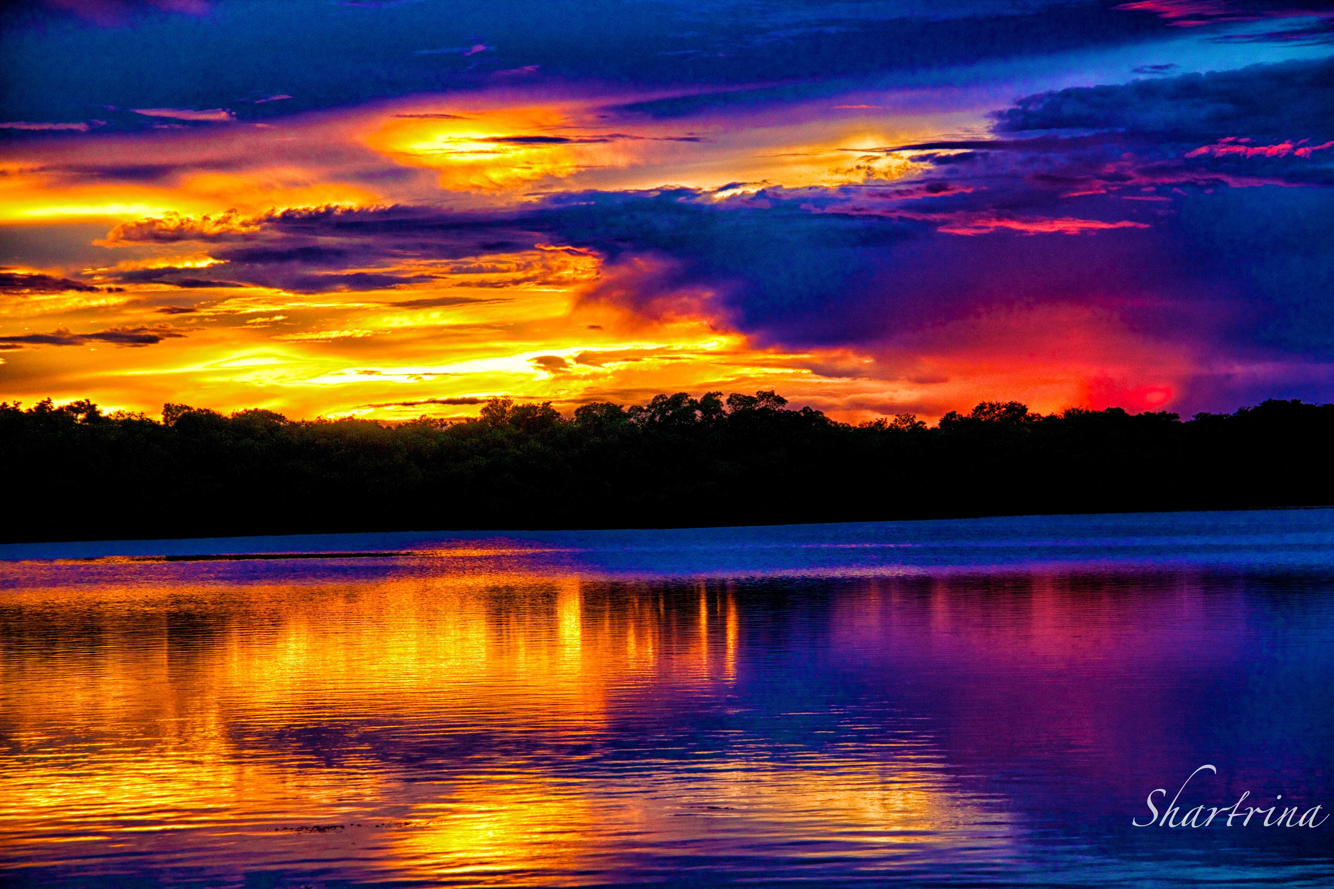 Unique sunset photo