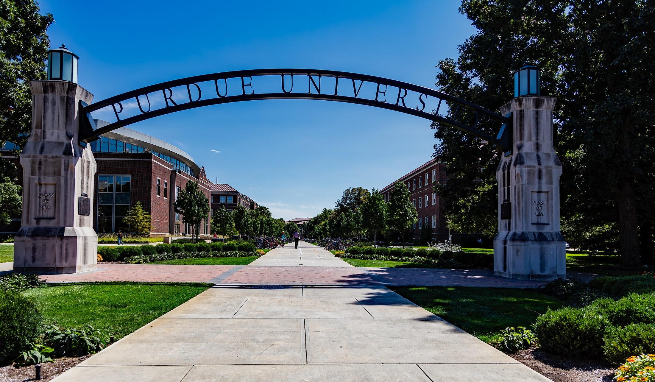 University entrance arch photo