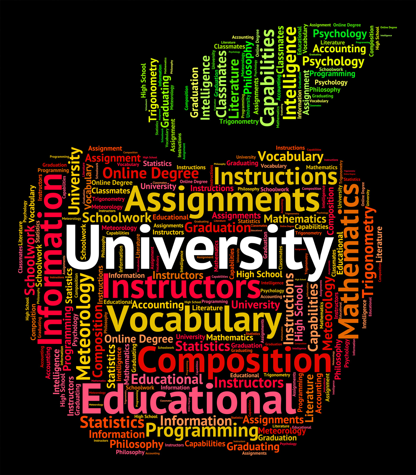 University word represents educational establishment and academy photo