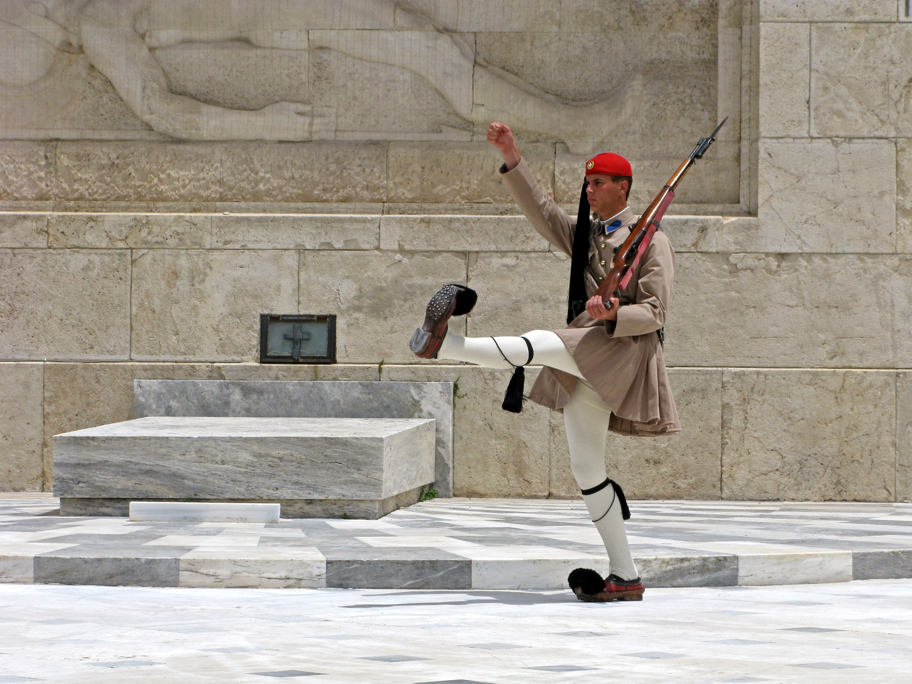 Visit the Tomb of the Unknown Soldier in Athens