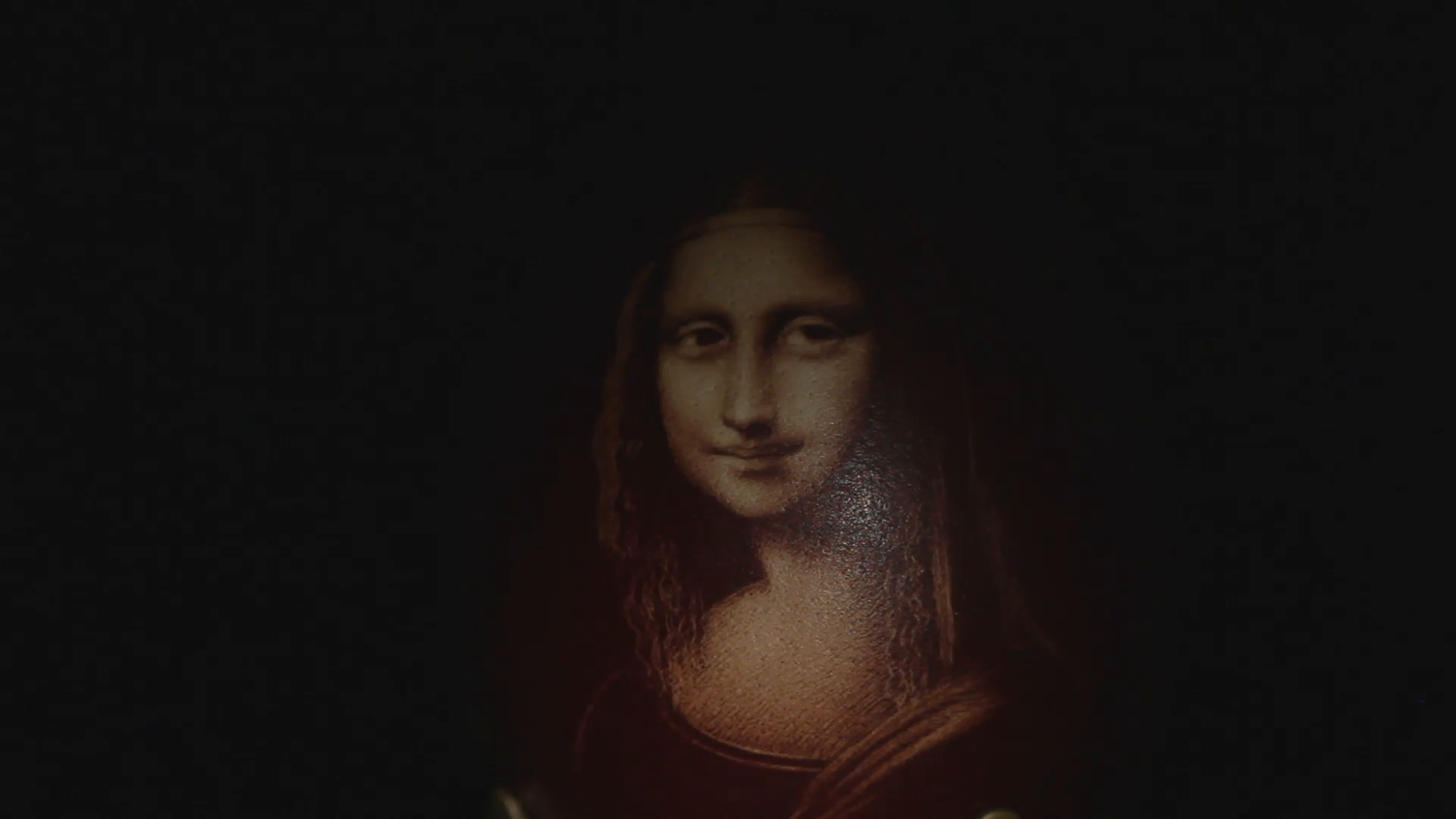 an unusual portrait of the Mona Lisa on the egg Stock Video Footage ...