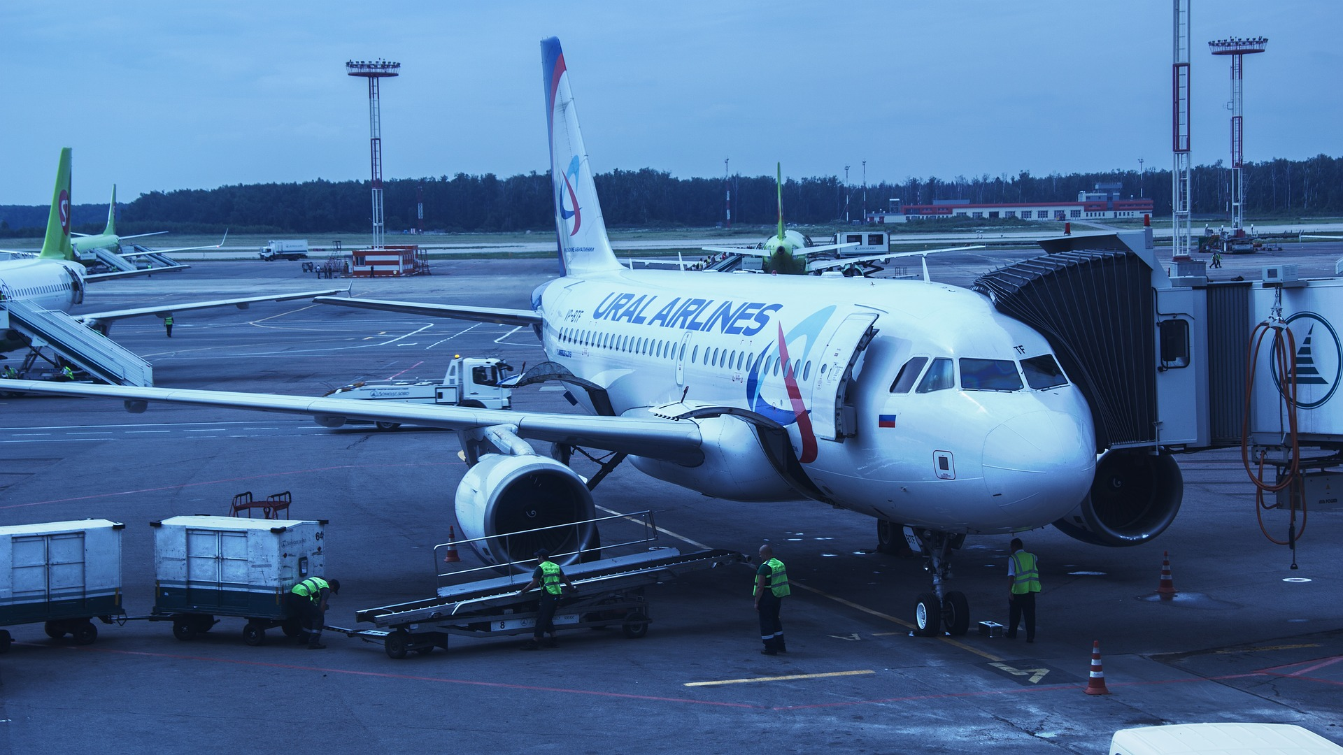 Ural Airlines, Airplane, Airport, Journey, Plane, HQ Photo