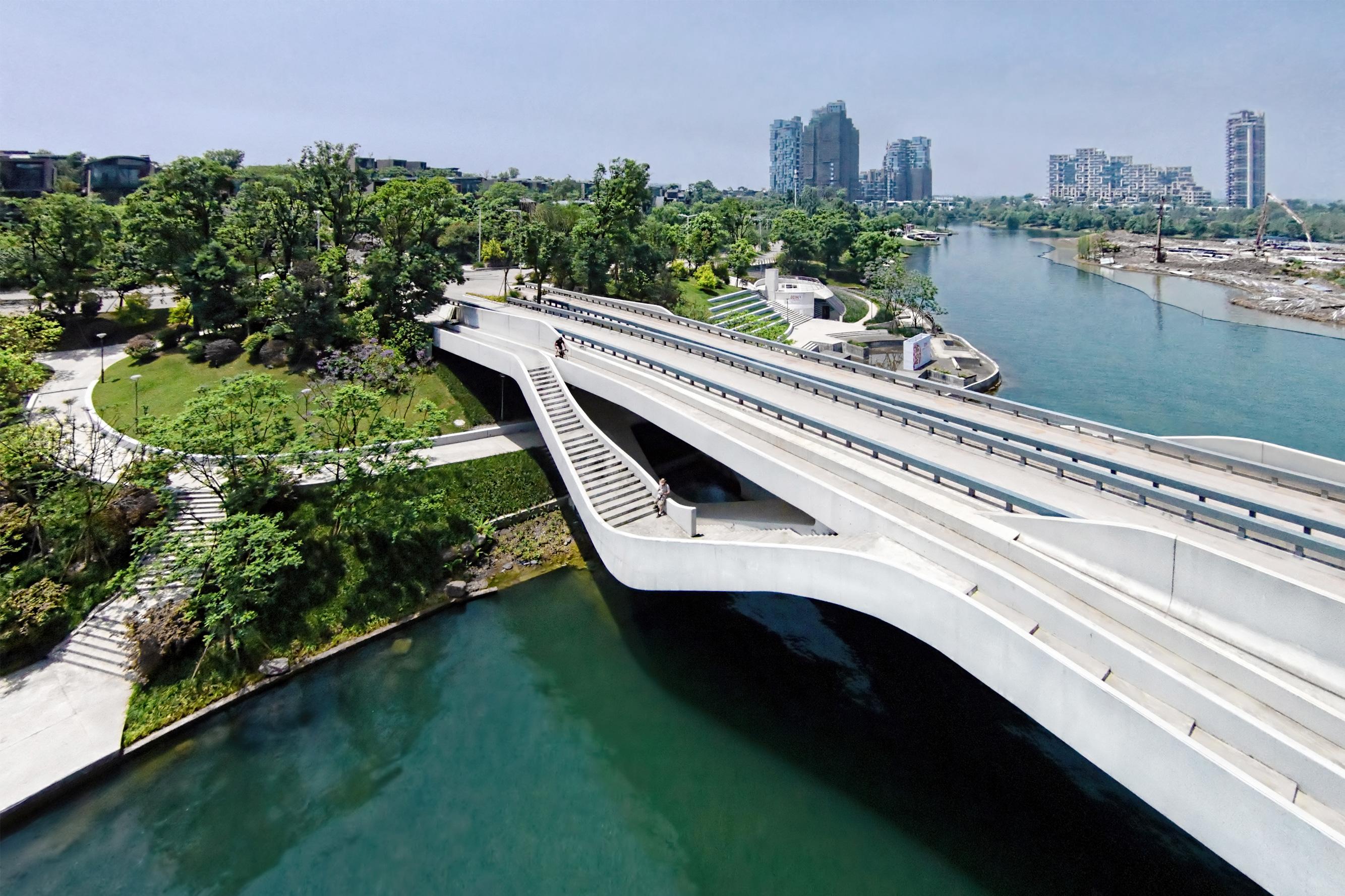 Urban bridge photo