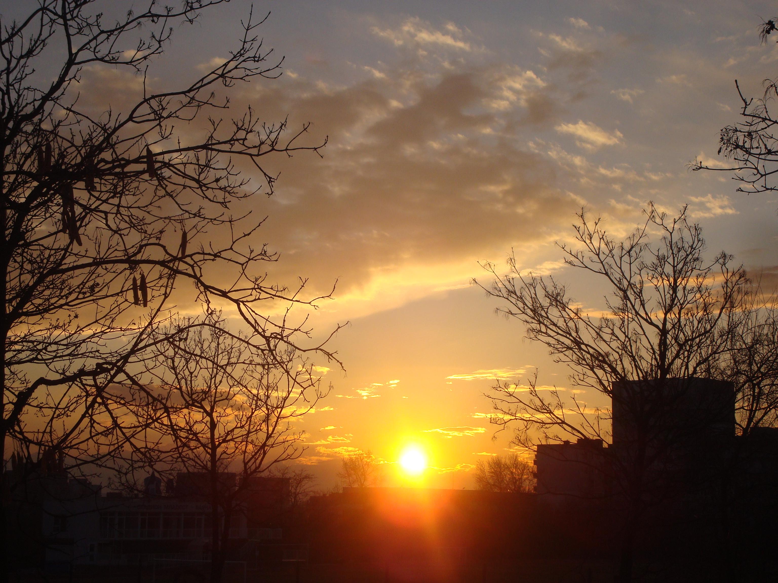 Urban sunset, Beautiful, Clouds, Natural, Nature, HQ Photo