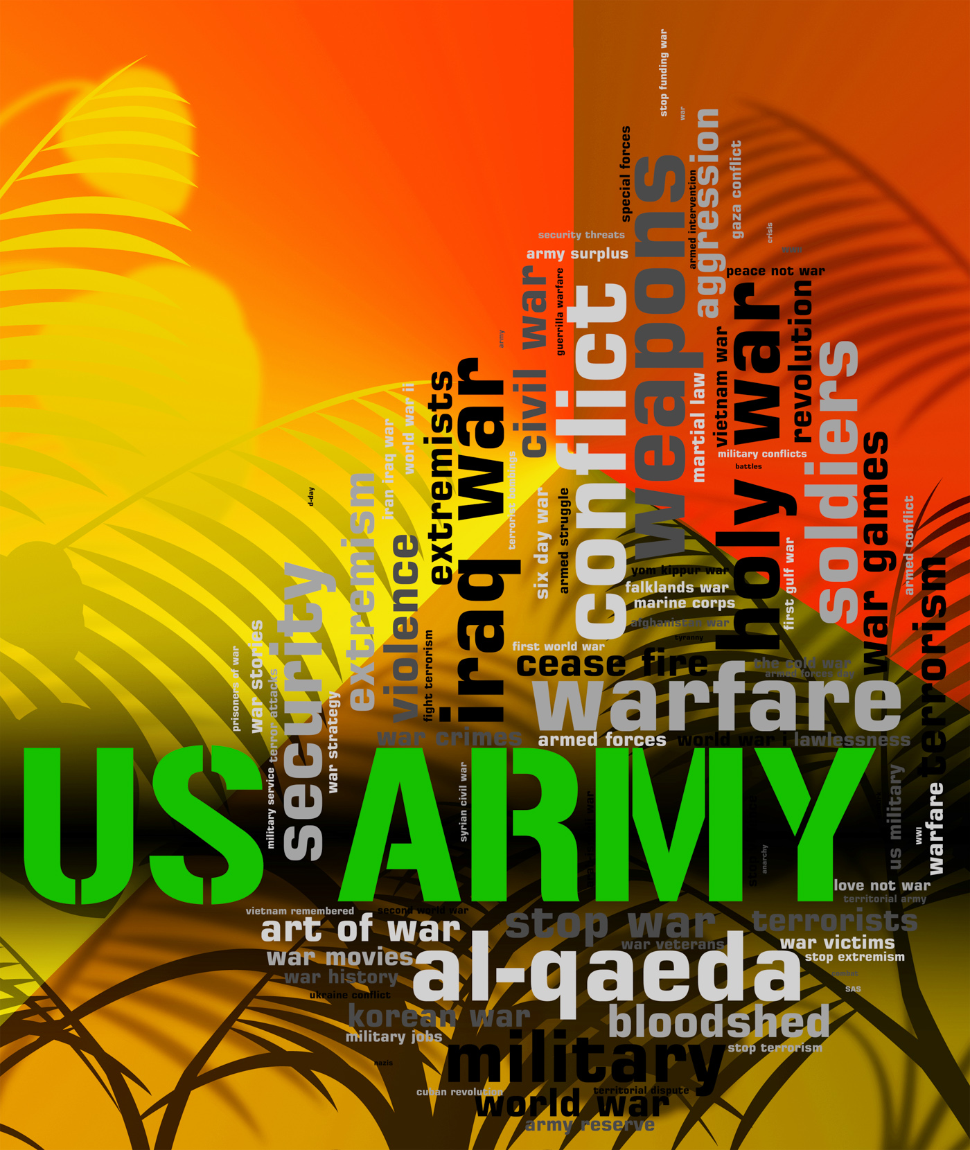 Us army shows the united states and armed photo