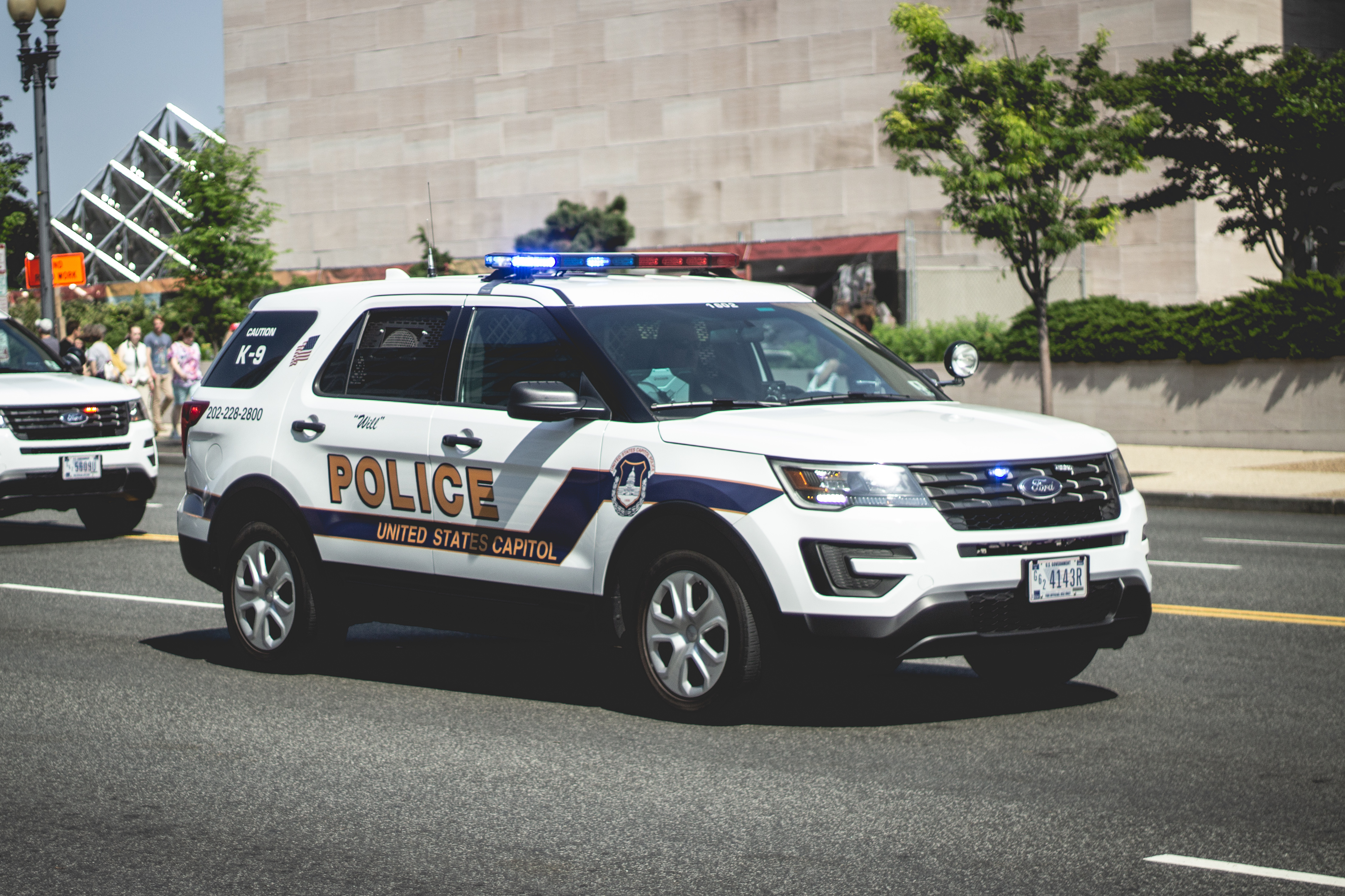 US Capitol Police (K9) - Ford Interceptor, Building, Police Washington DC, Washington DC Police, Washington dc, HQ Photo