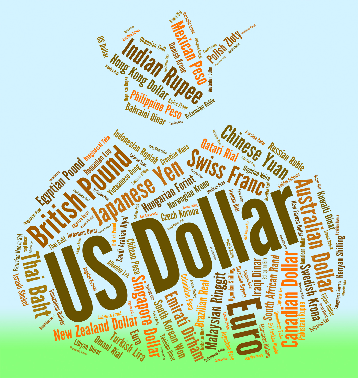 Us dollar shows forex trading and america photo