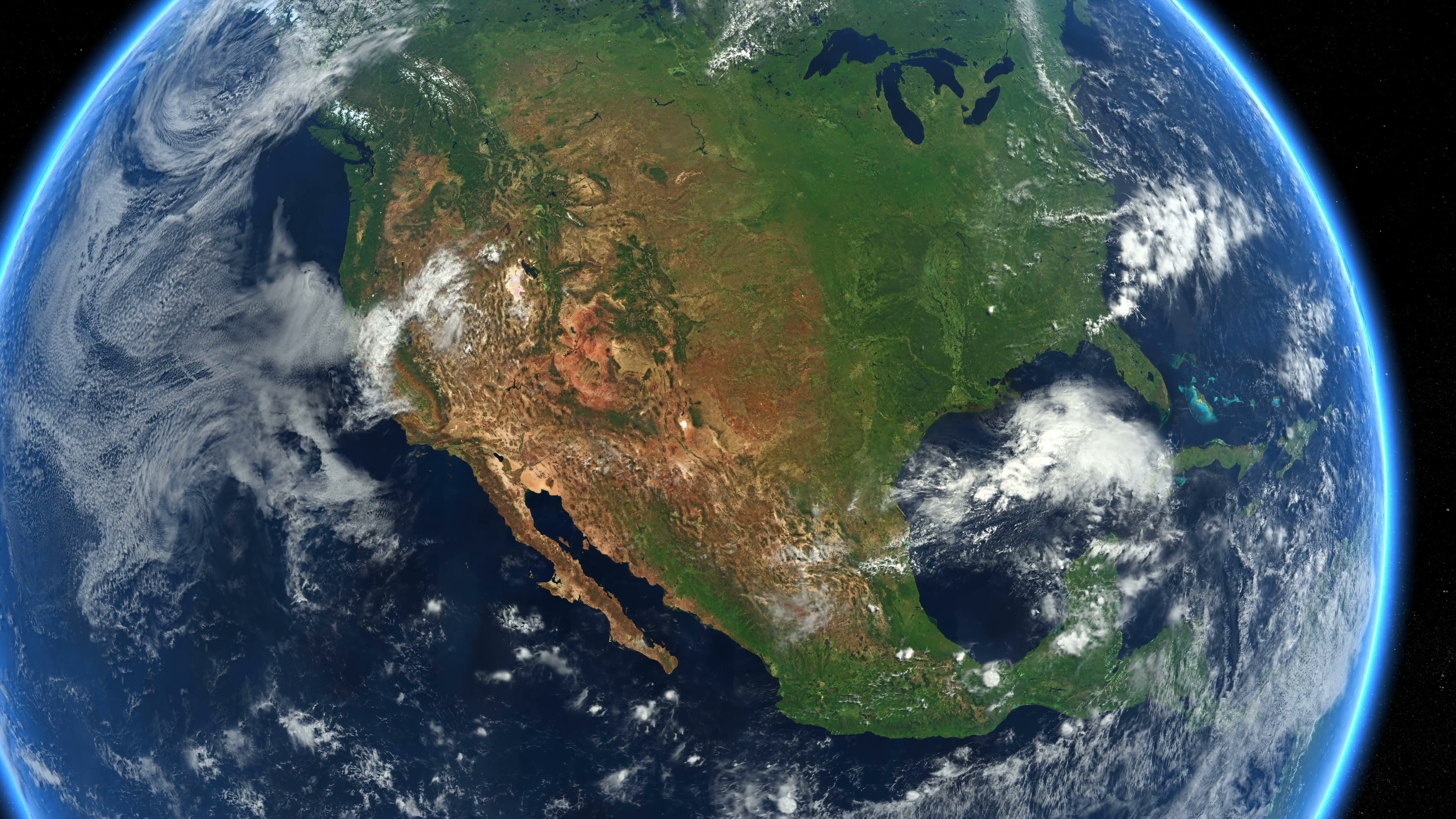 Zoom to USA. The United States from space. Earth Zoom. Clip contains ...