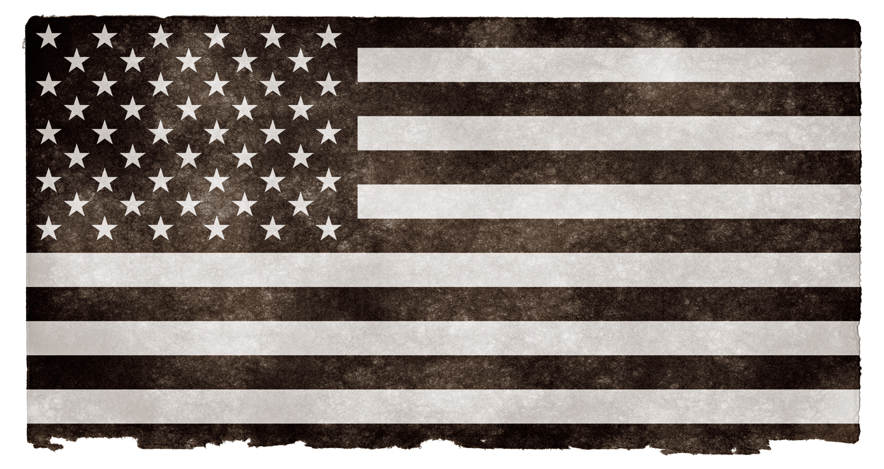 Usa grunge flag - black and white photo