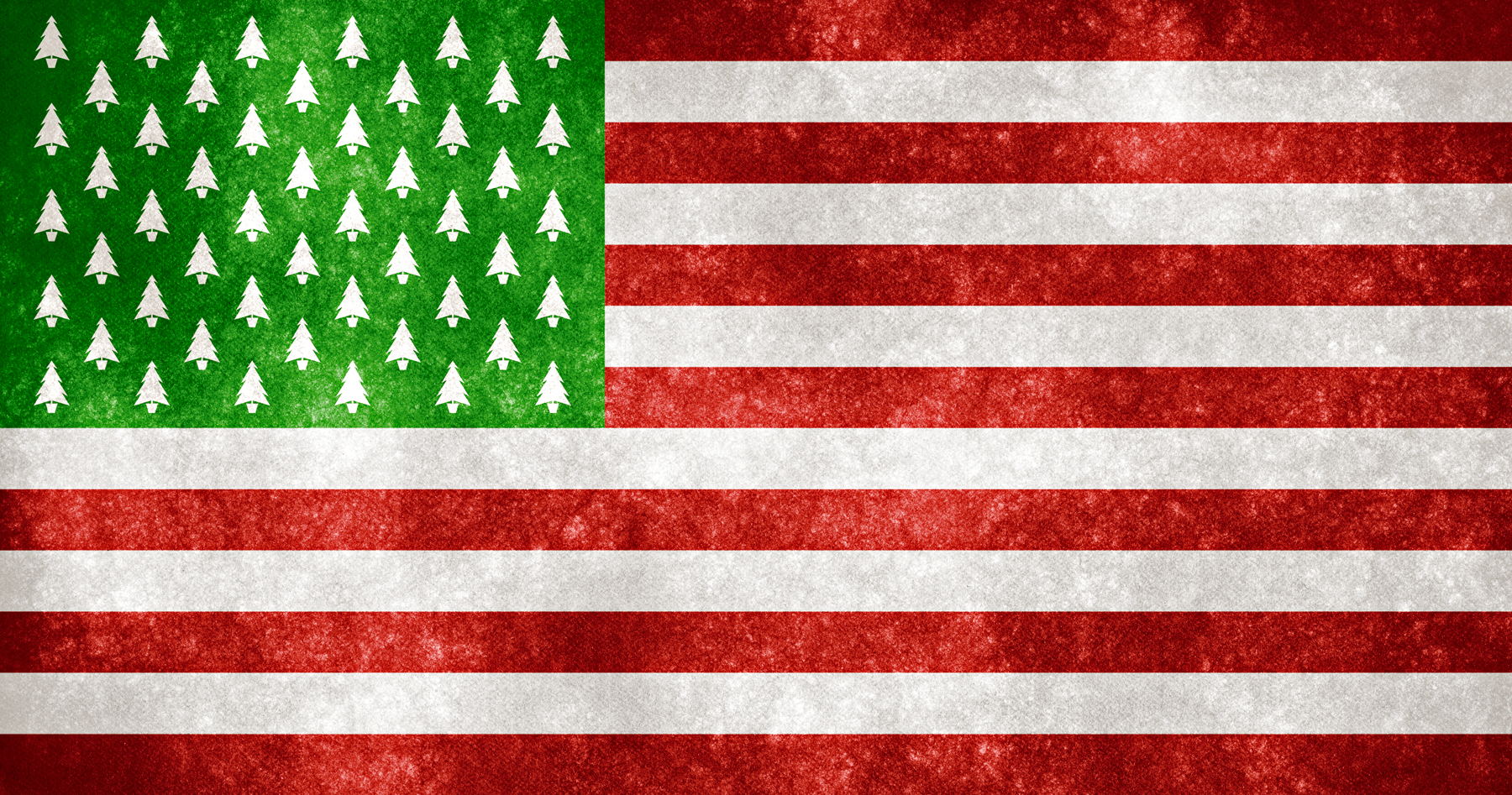 Usa grunge flag - christmas trees photo