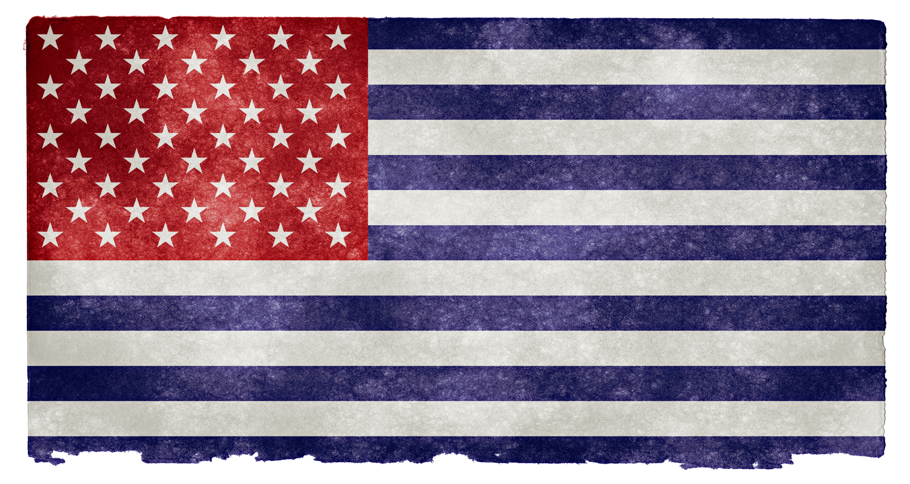 Usa grunge flag - inverted photo