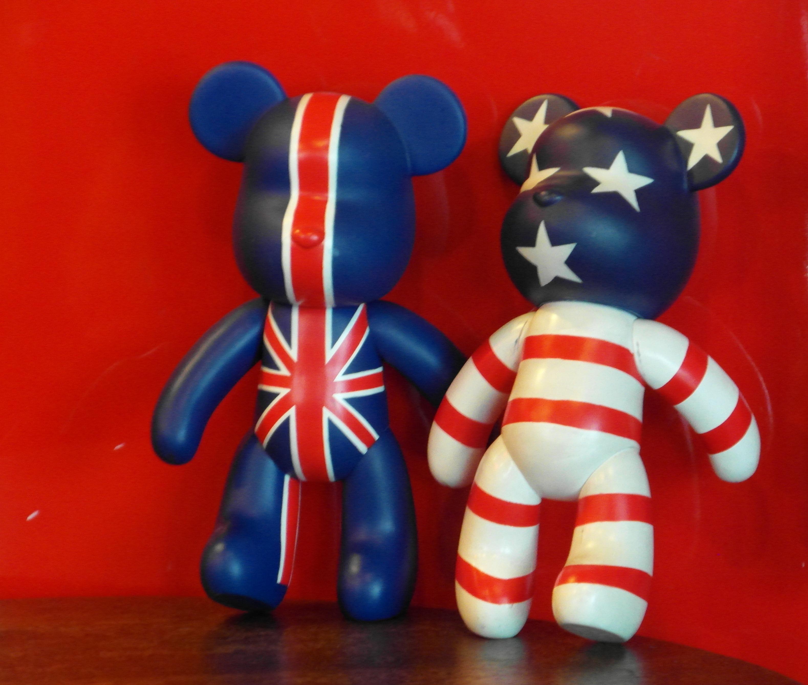 USA UK Teddy Bears, America, Political, Uk, Two, HQ Photo