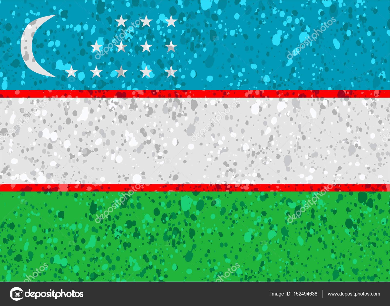 Uzbekistan grunge flag photo