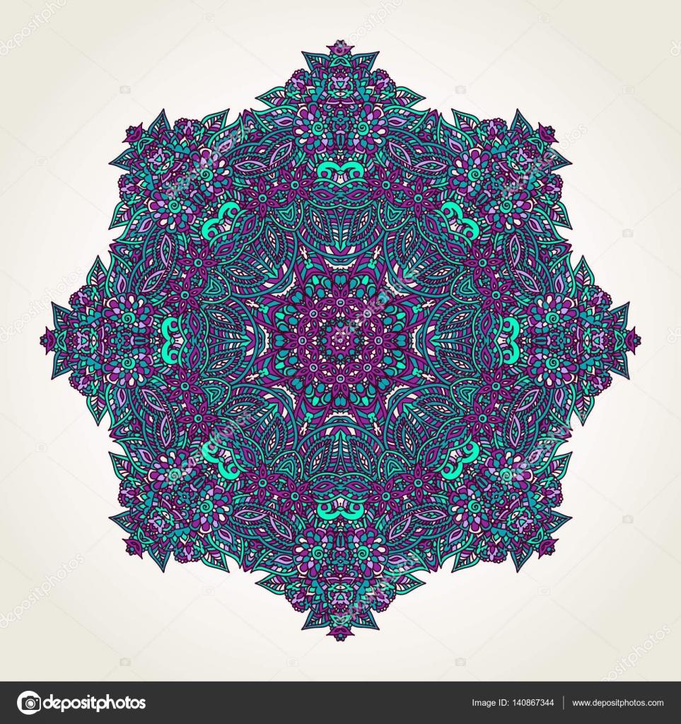 V rosette fractal photo
