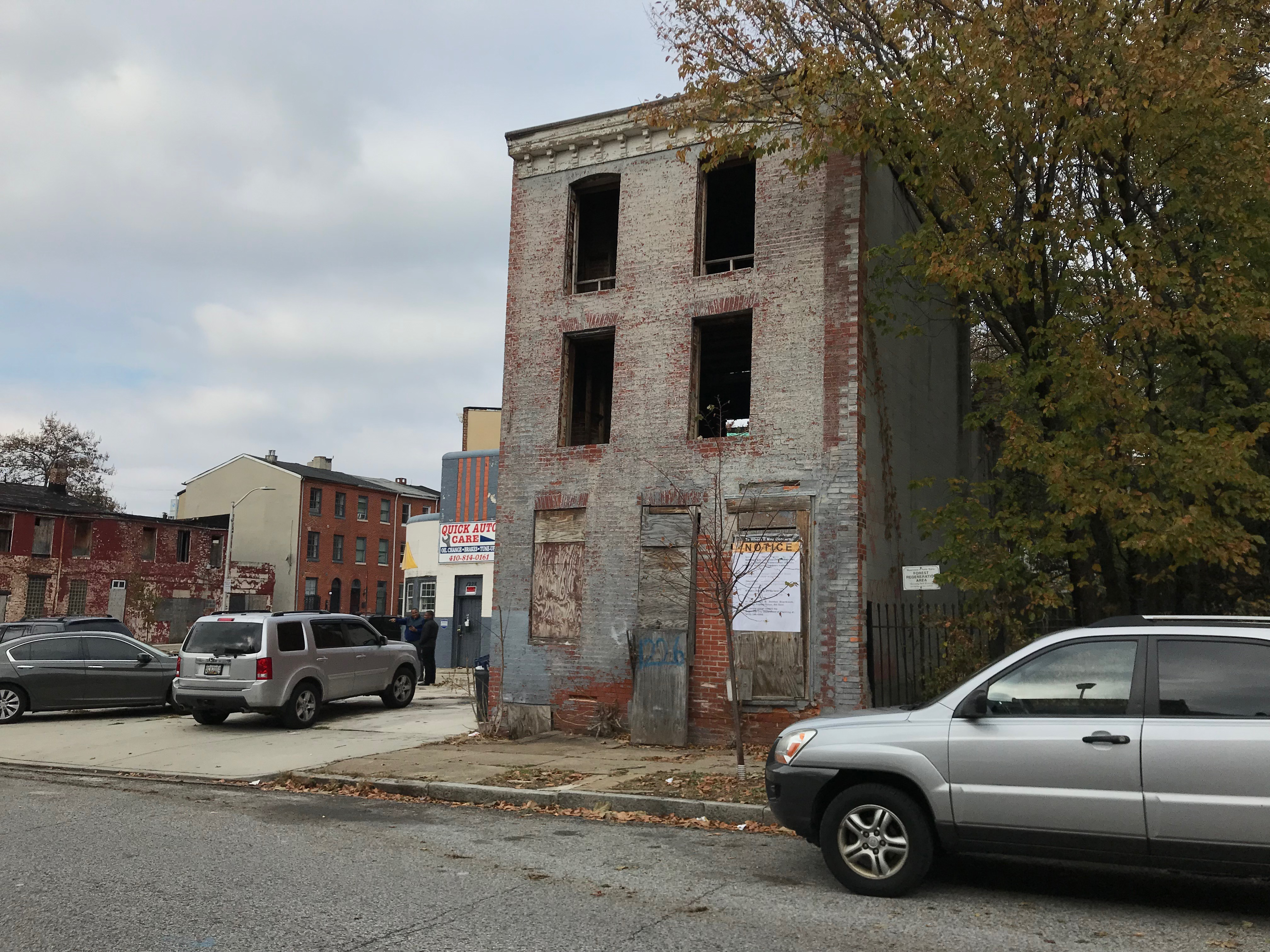 Vacant buildings, 1214-1228 hollins street, baltimore, md 21223 photo