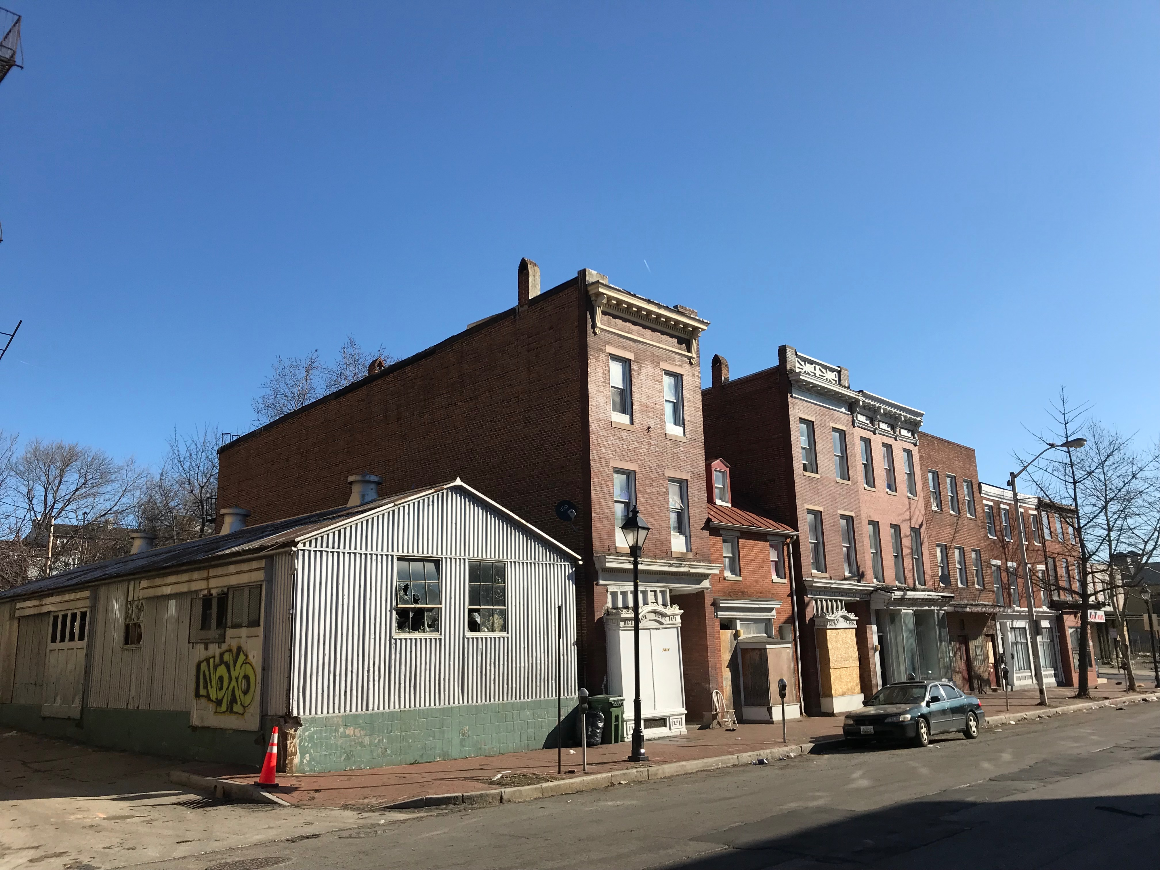 Vacant commercial buildings, 1400 block of w. baltimore street, baltimore, md 21223 photo