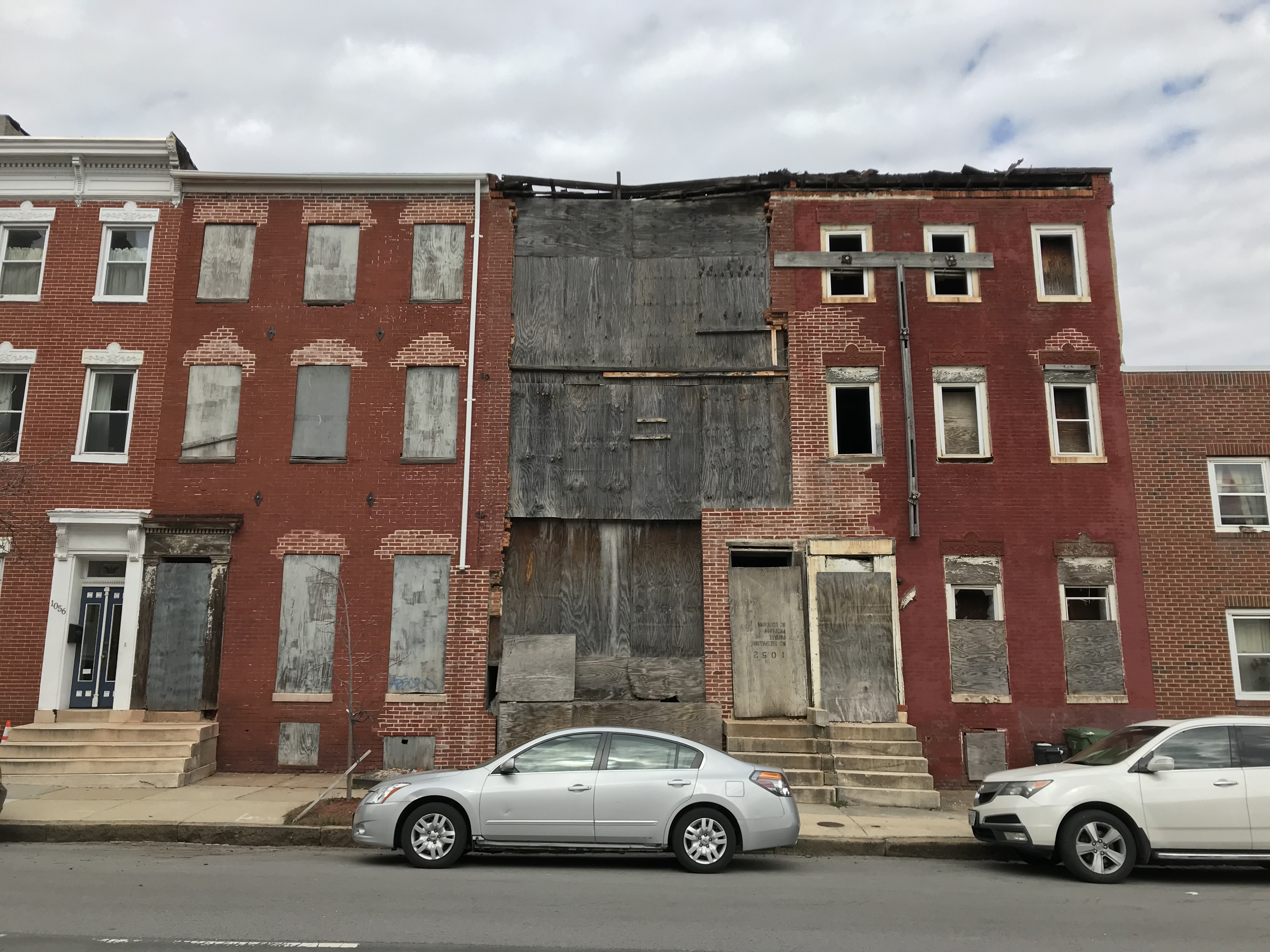 Vacant rowhouses, 1050-1056 w. fayette street, baltimore, md 21223 photo