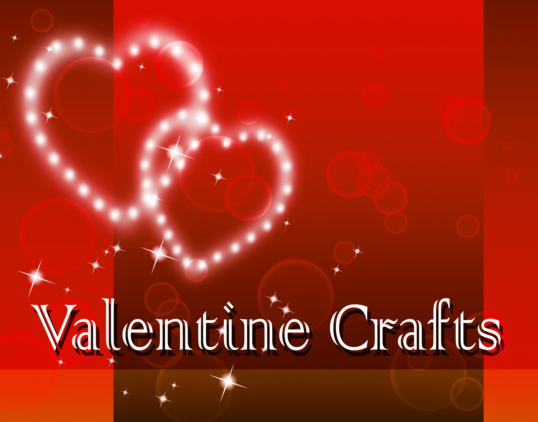 Valentine crafts represents valentines day and art photo