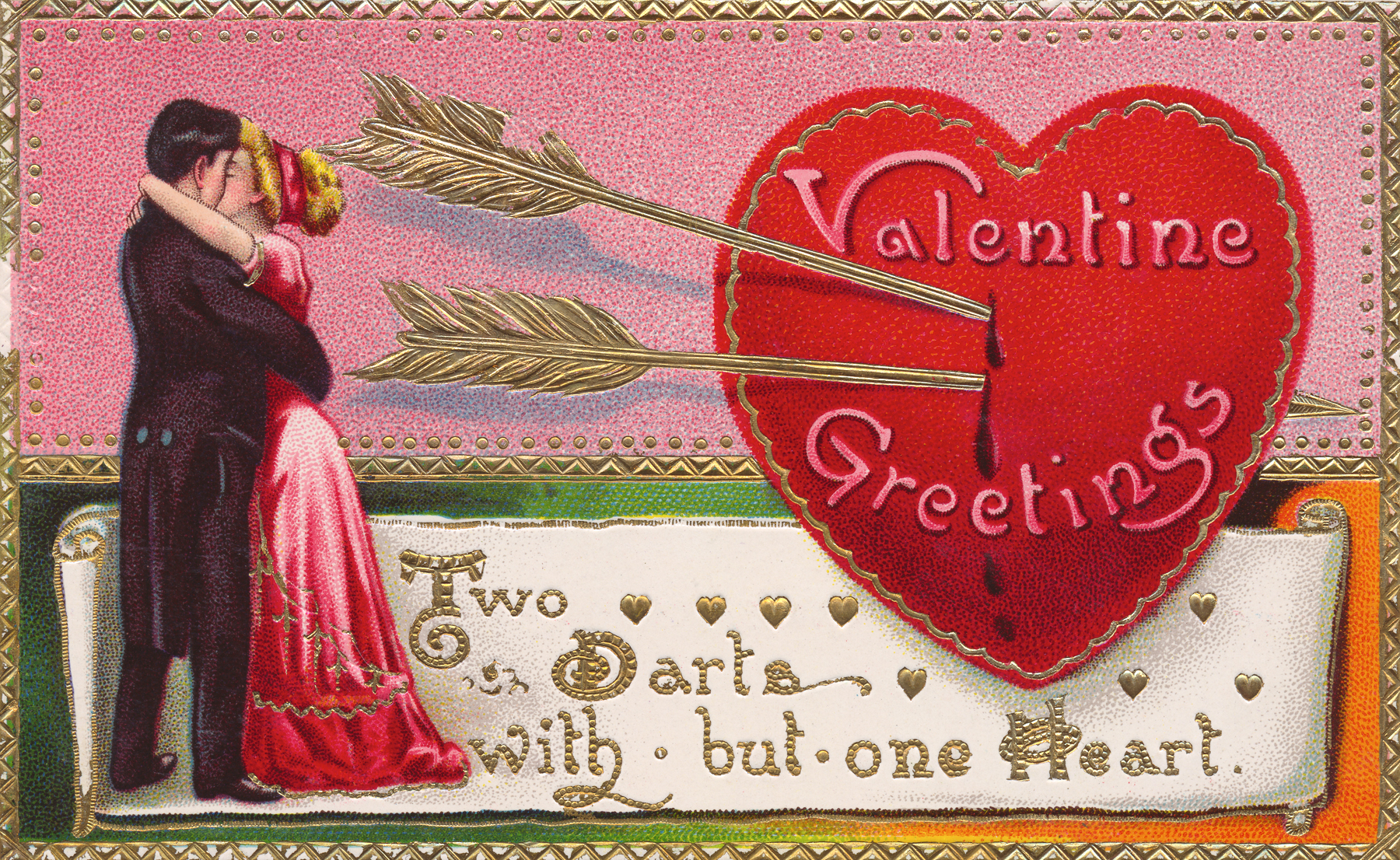 Valentine greetings card - circa 1910s photo