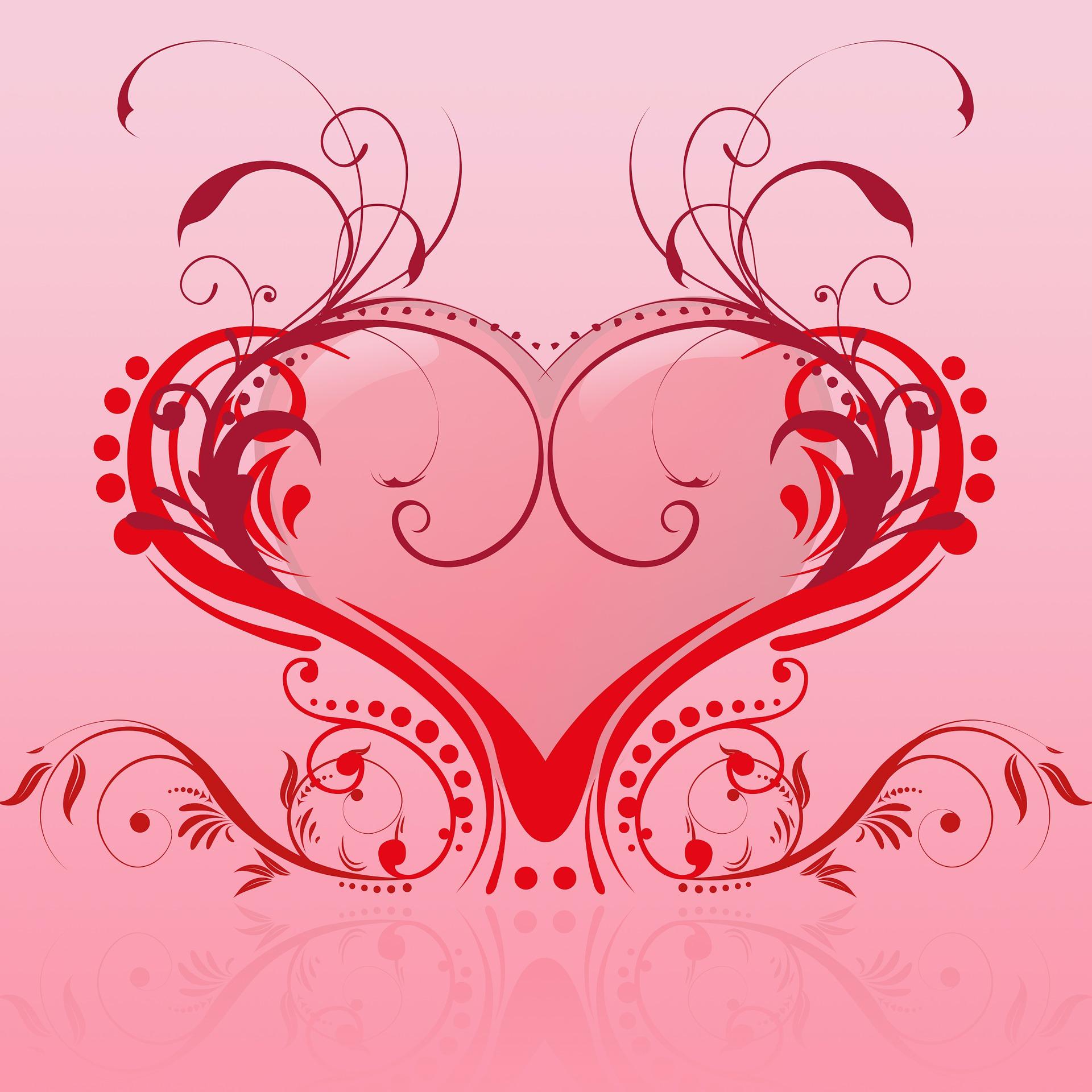 Valentine heart illustration photo