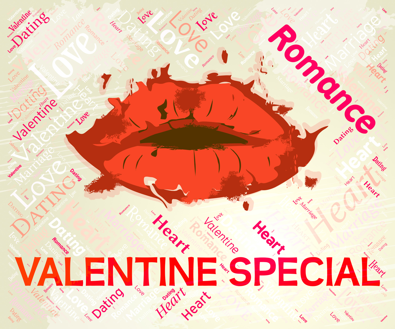 Valentine special means valentines day and bargain photo