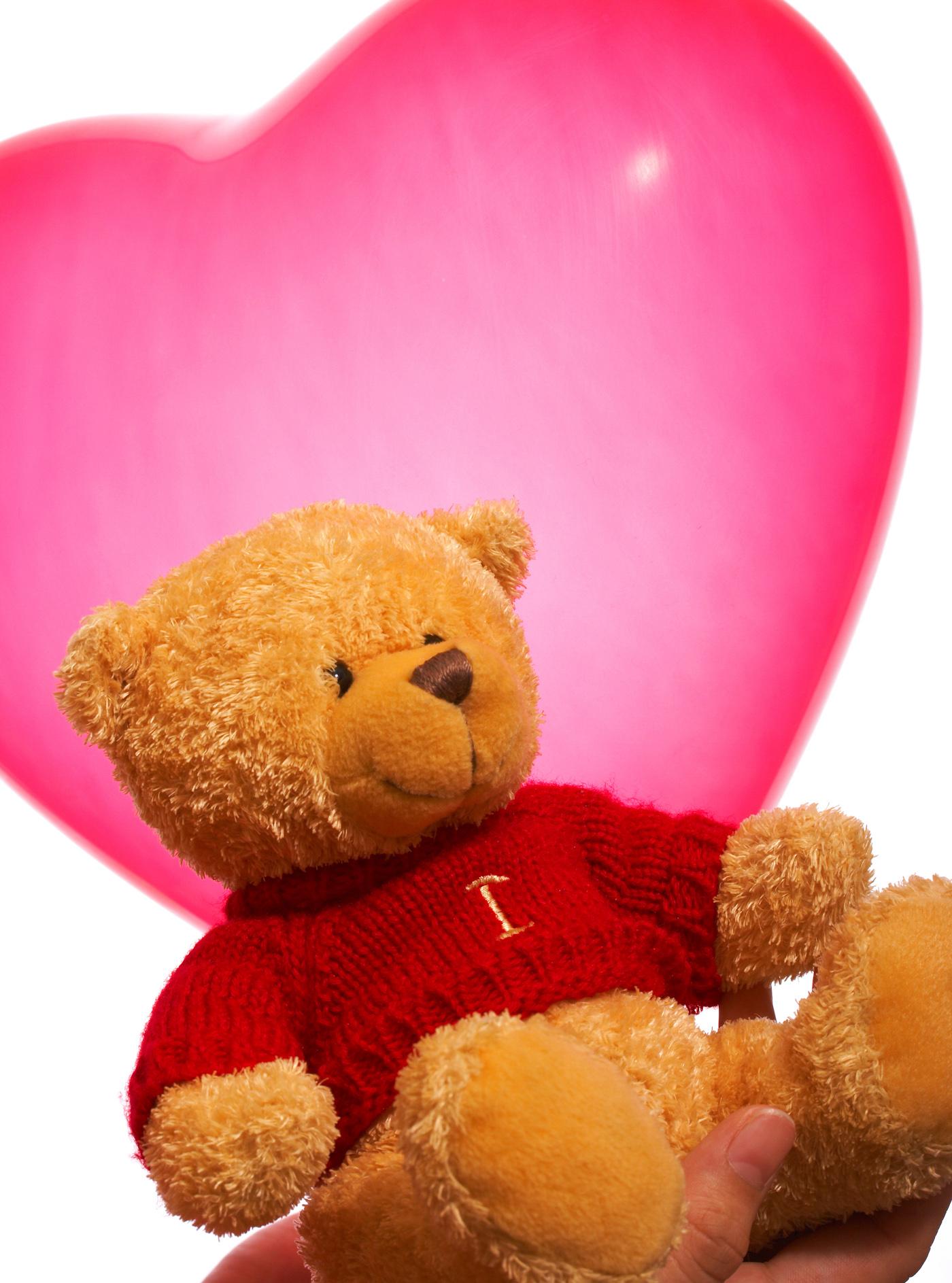 Valentine teddy bear gift or present photo