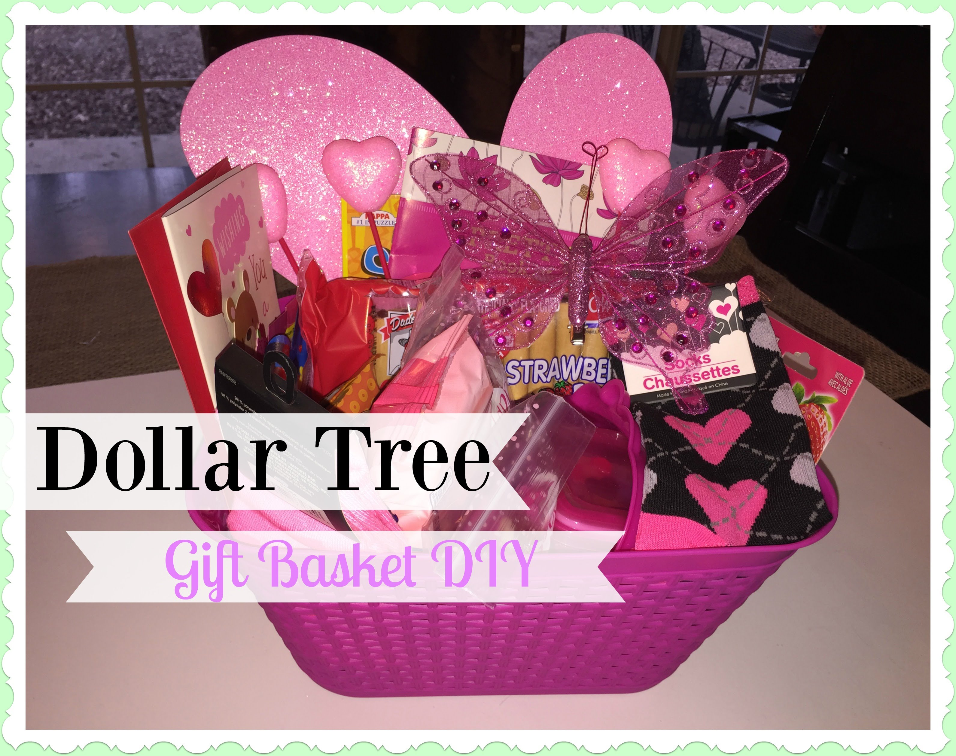 2016 DOLLAR TREE Valentine's Day Gift Basket! - YouTube