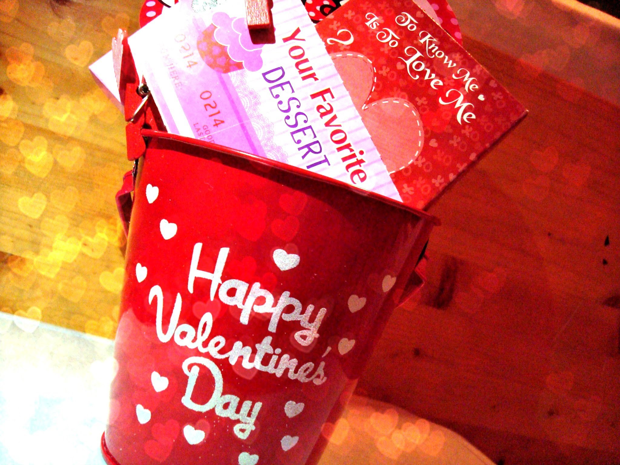 Valentine's Day: Last Minute Gift Ideas (Homemade Gift Basket) - YouTube
