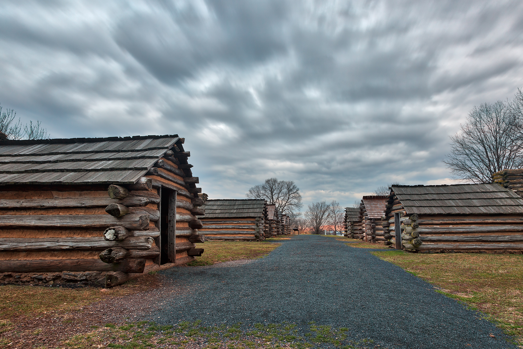Valley forge cabin trail - hdr photo
