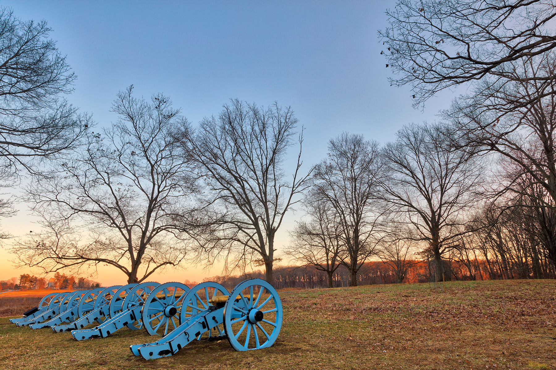 Valley forge cannon twilight - hdr photo
