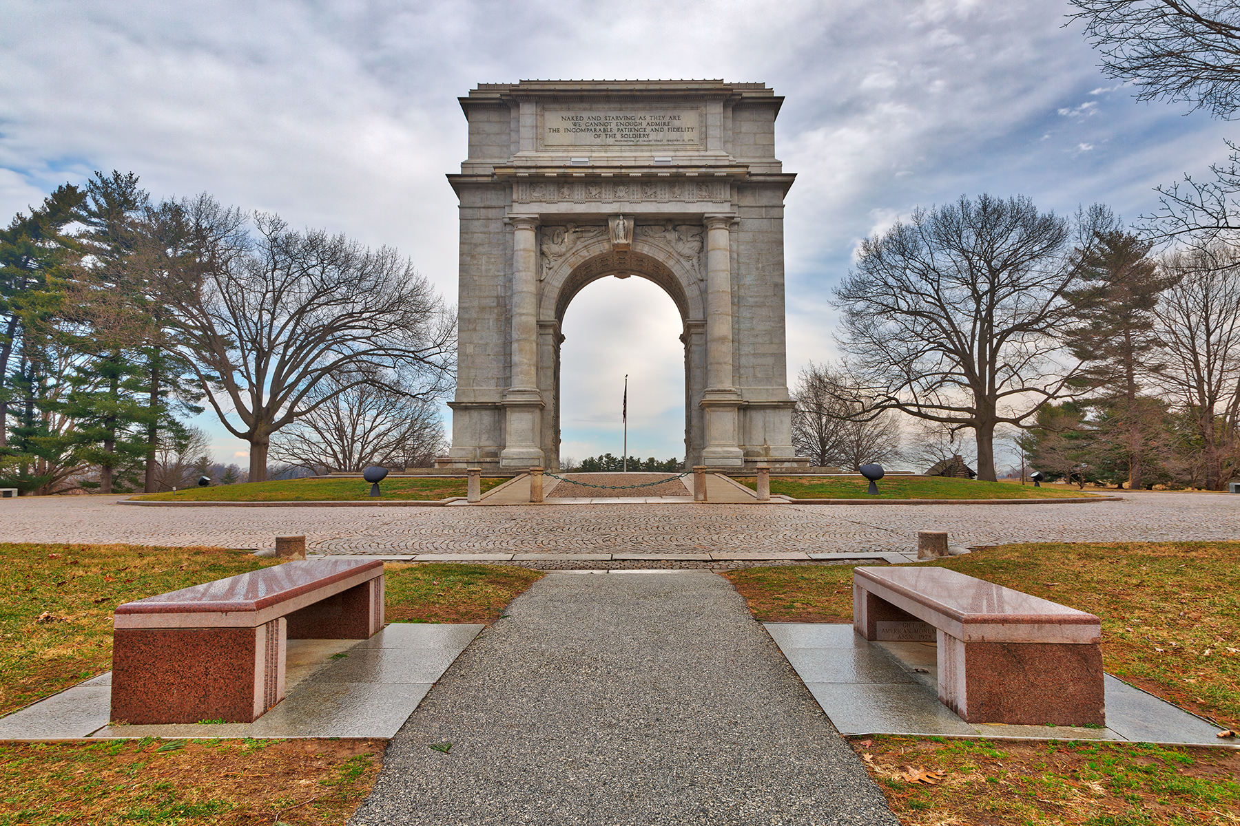 Valley forge national memorial arch - hdr photo