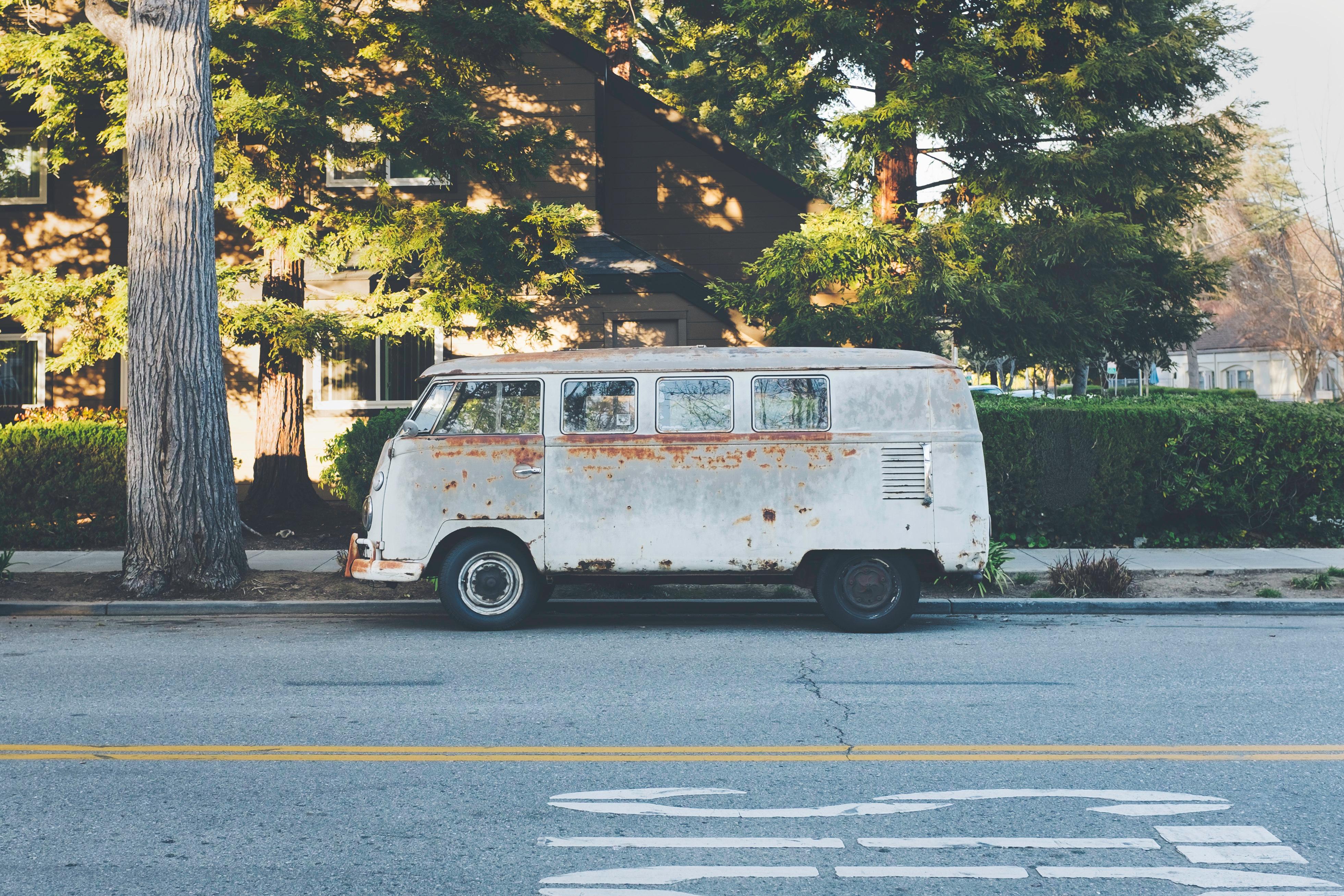 Van, Metal, Old, Road, Rust, HQ Photo