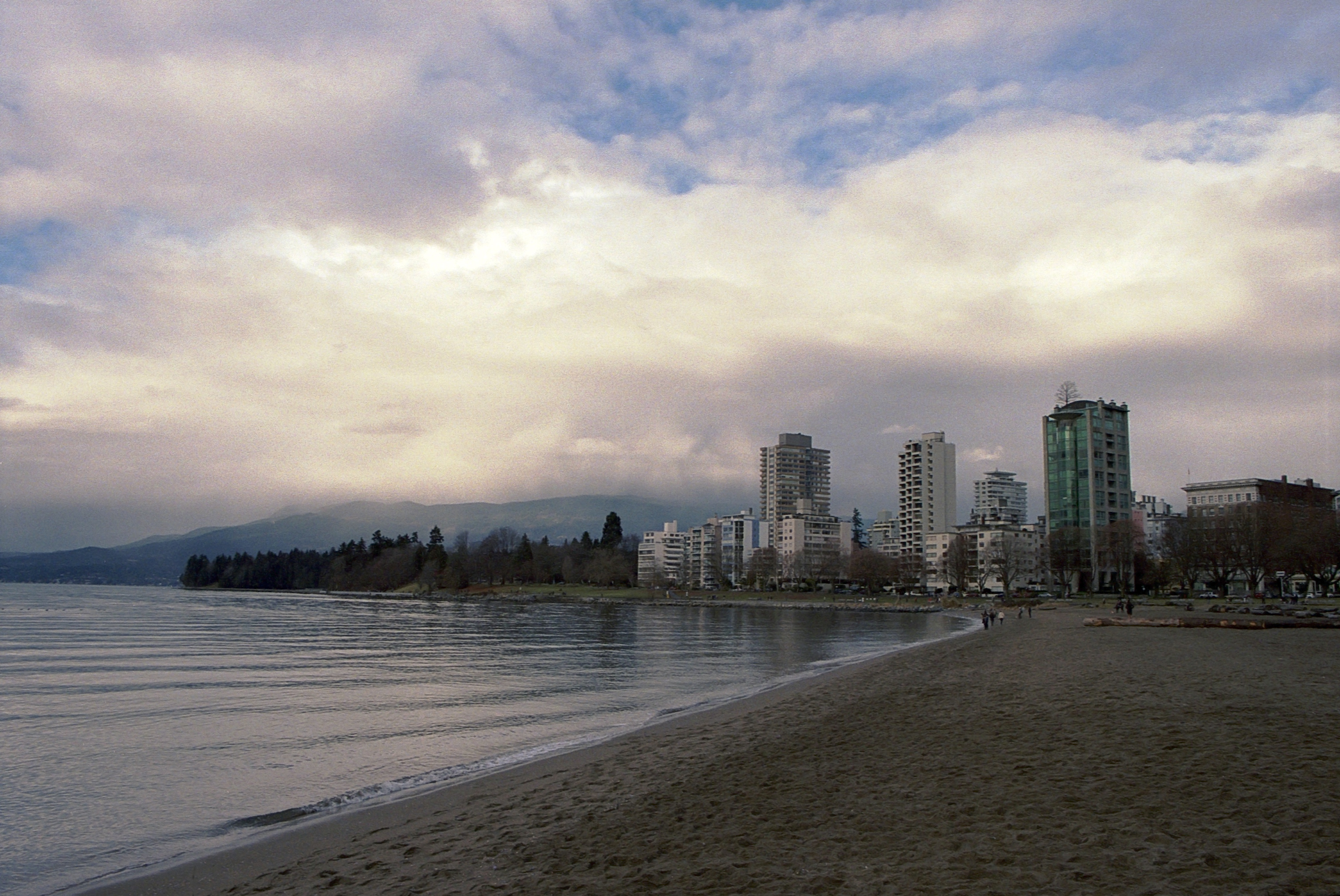Vancouver West End Winter, Skyline, Sky, Kodak, Beach, HQ Photo