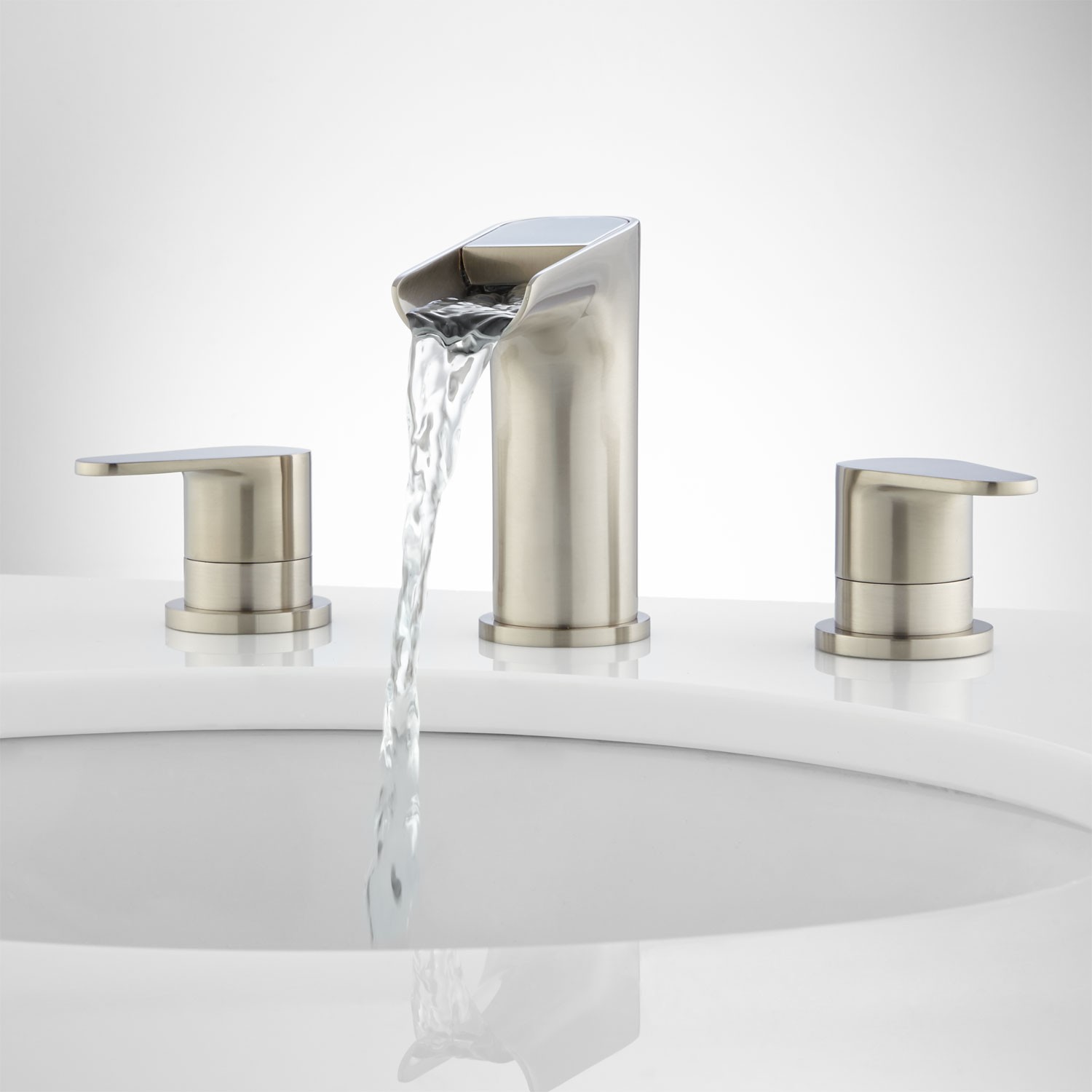 Entranching Pagosa Widespread Waterfall Faucet Bathroom In For Sink ...