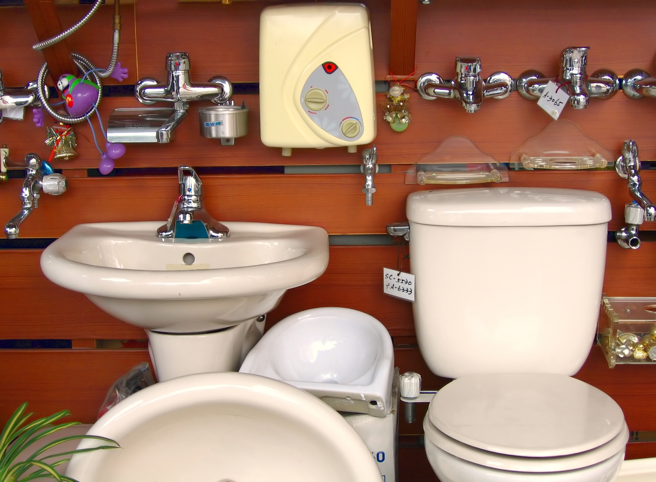 Various Bathroom Fixtures, Attachment, Repair, Hot, Installation, HQ Photo