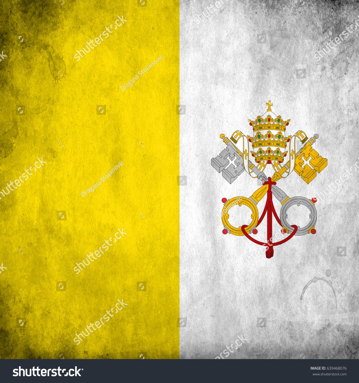 Vatican grunge flag photo