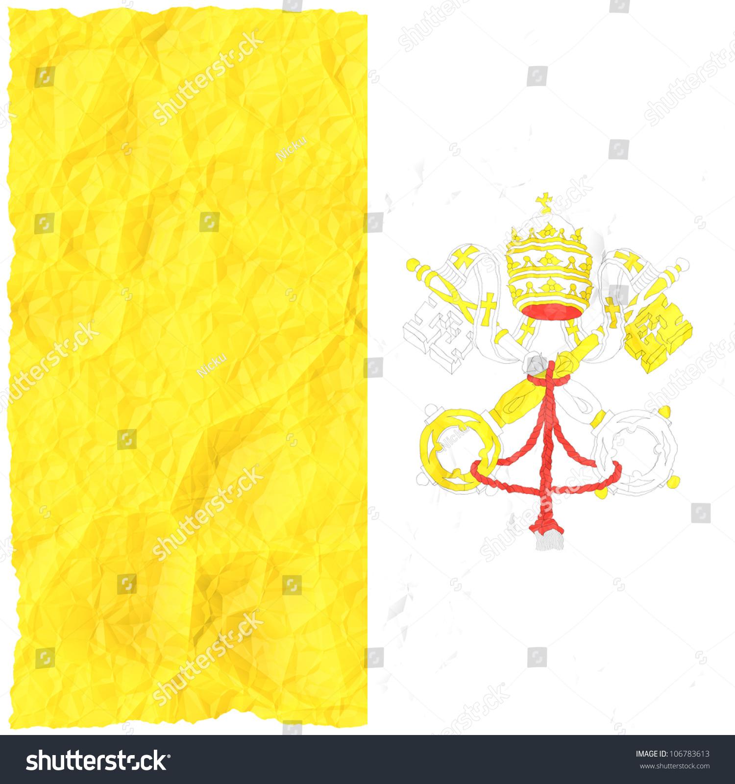 Crumple Grunge Flag Vatican City Stock Illustration 106783613 ...