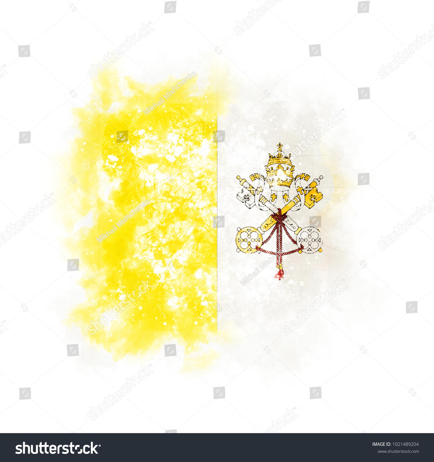 Square Grunge Flag Vatican City 3d Stock Illustration 1021489204 ...
