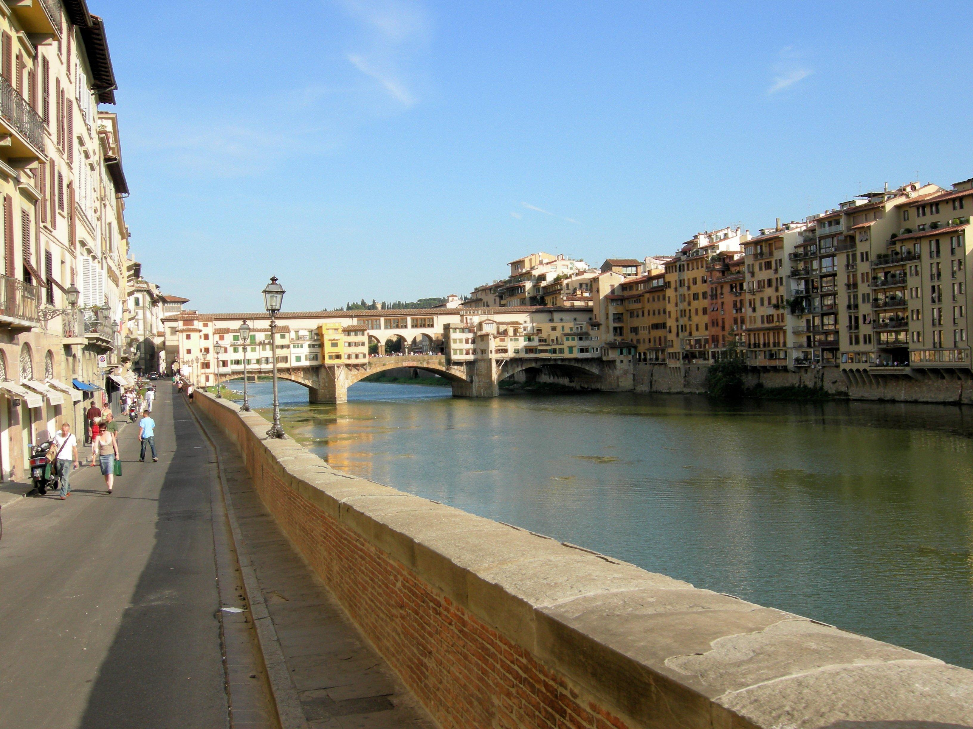 Vecchio bridge in florence, italy photo