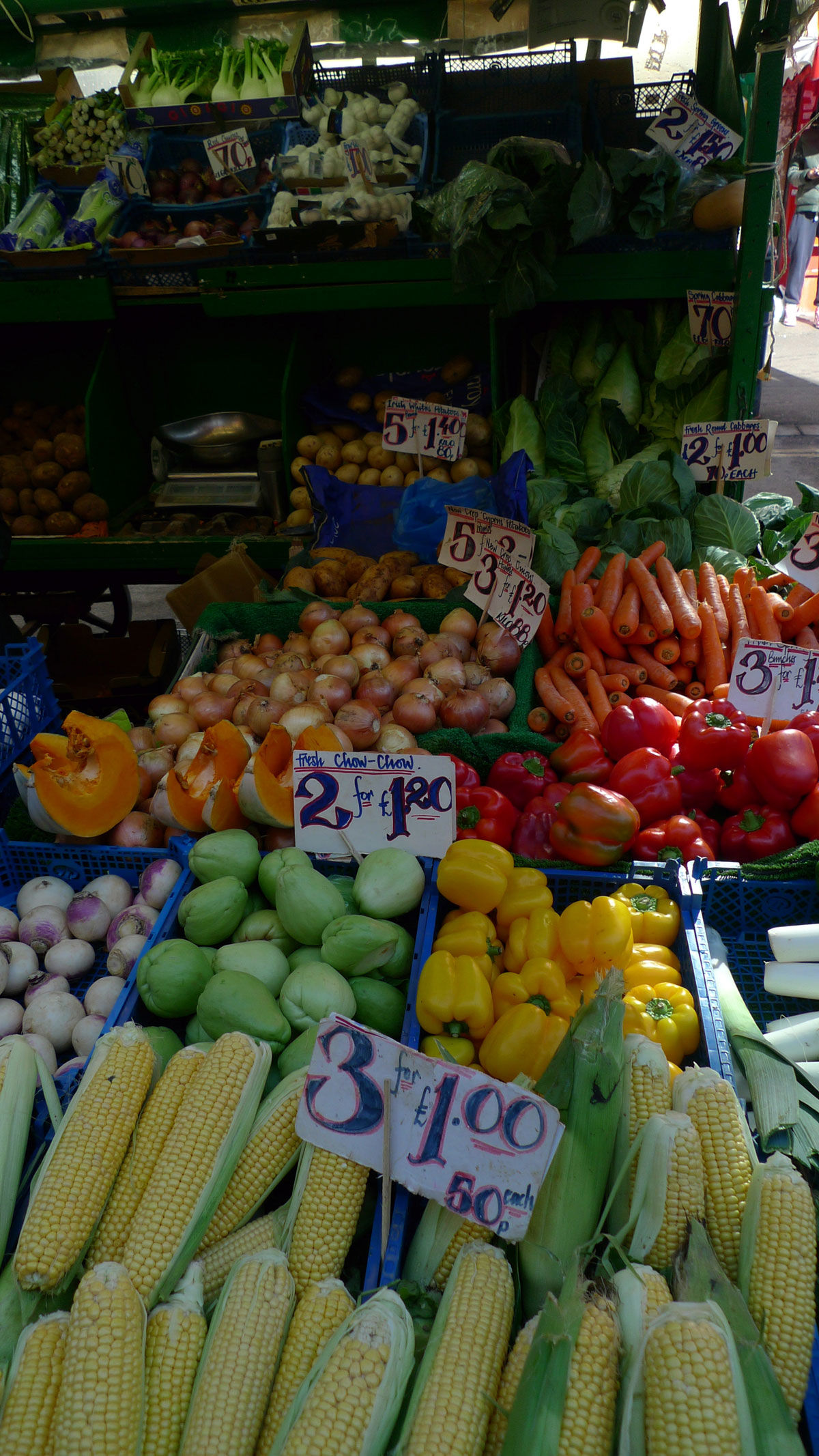On the Grid : Brixton Market Fruit and Vegetable Stalls